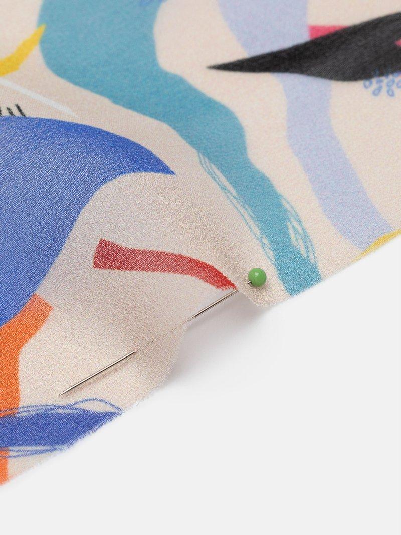 custom print Silk Georgette fabric transparency
