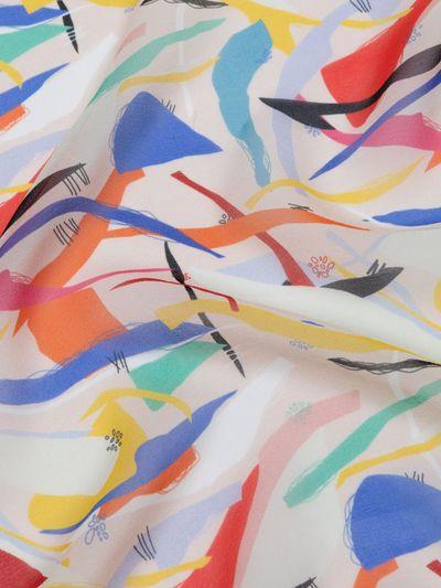 printed silk Georgette fabric