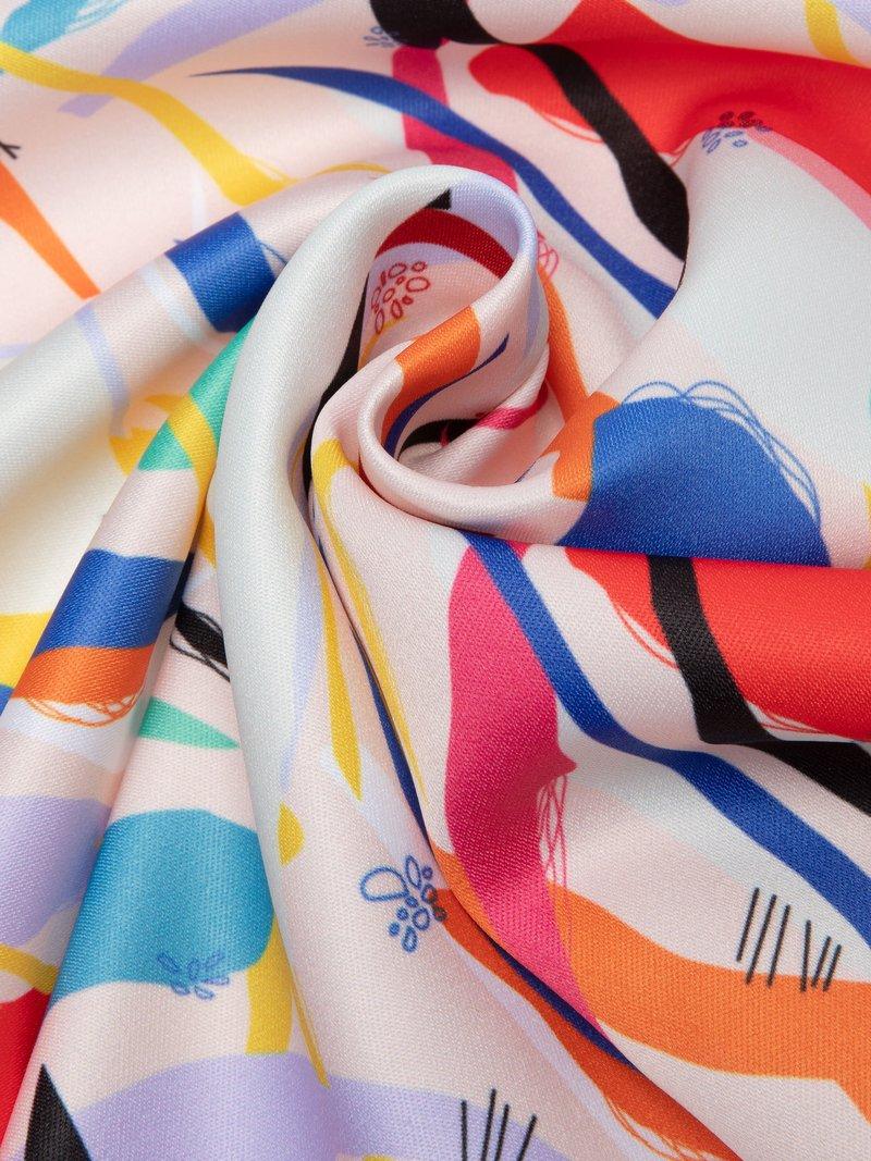 digital Monroe Satin printing rolled fabric