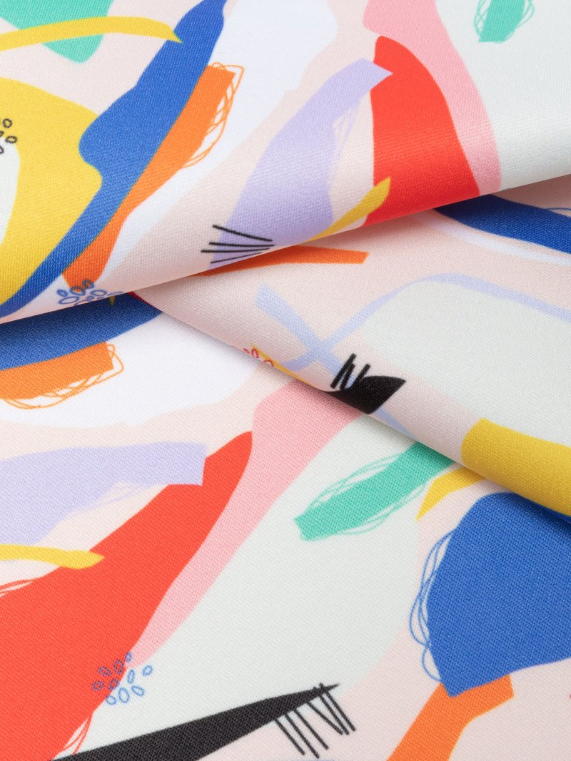 Monroe Satin Print with designer pattern edge options