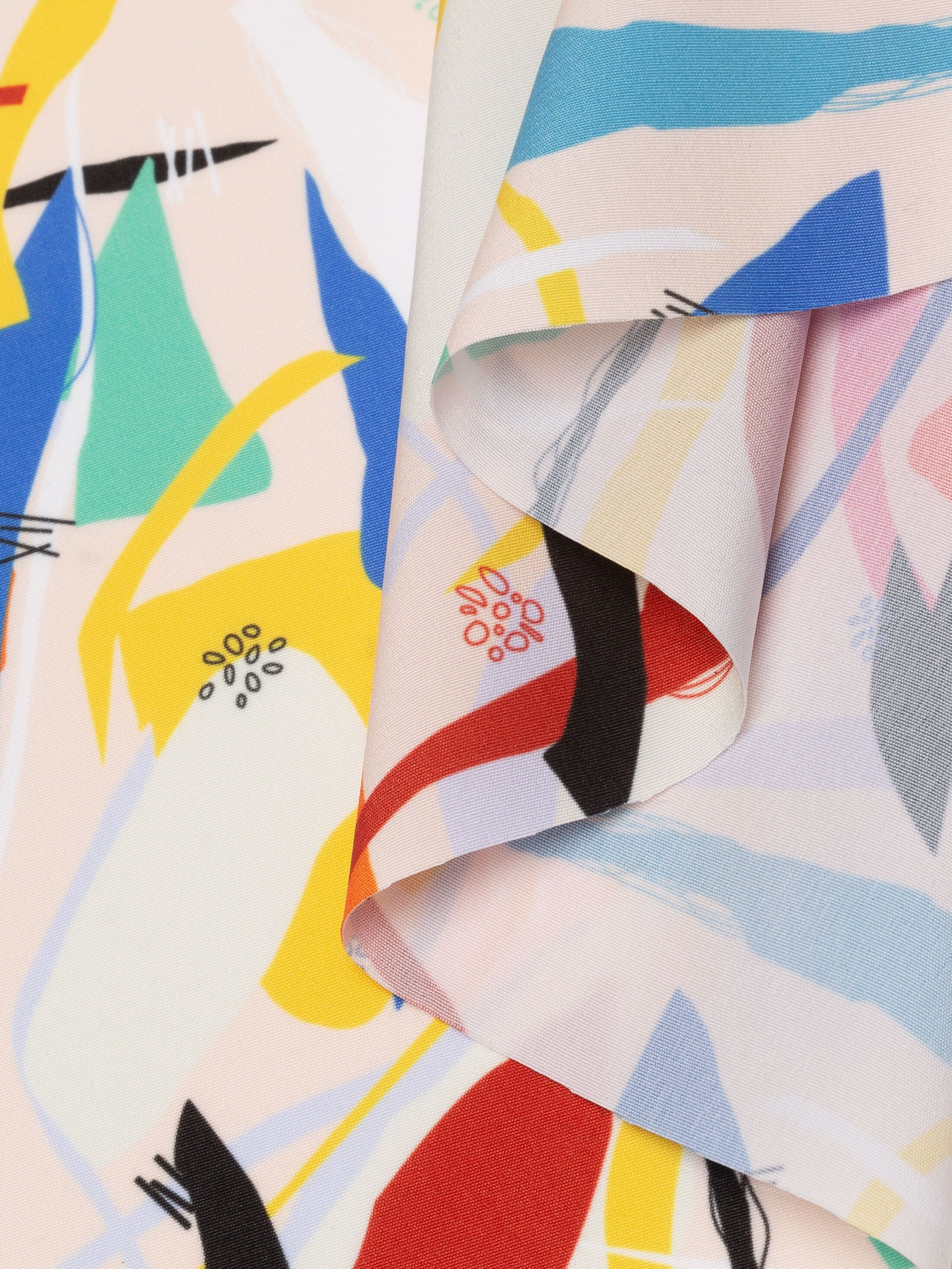 tissu Polyester aspect coton sur mesure