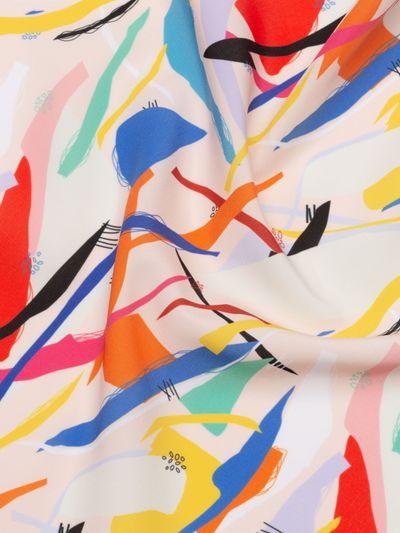 Polyester aspect coton Pêche