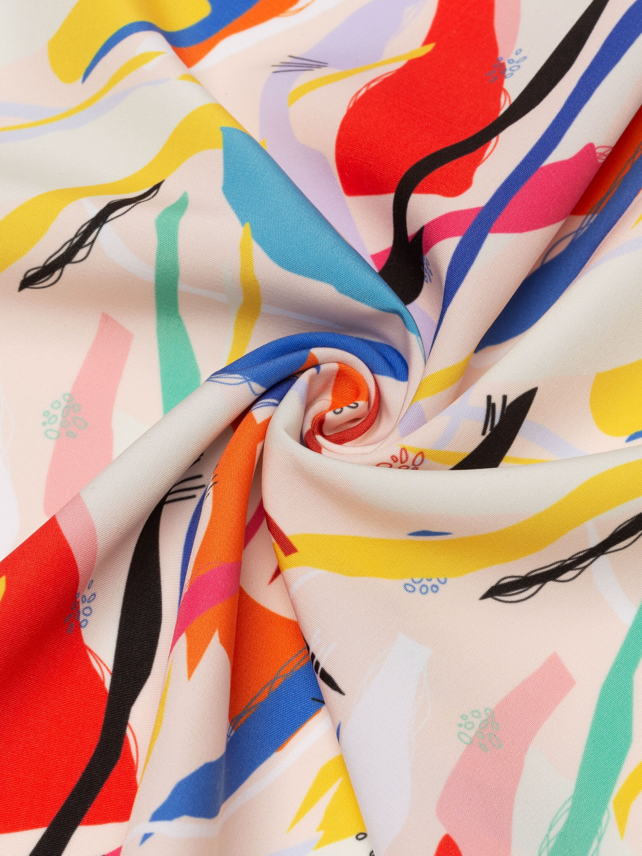 tissu Polyester aspect coton personnalisable
