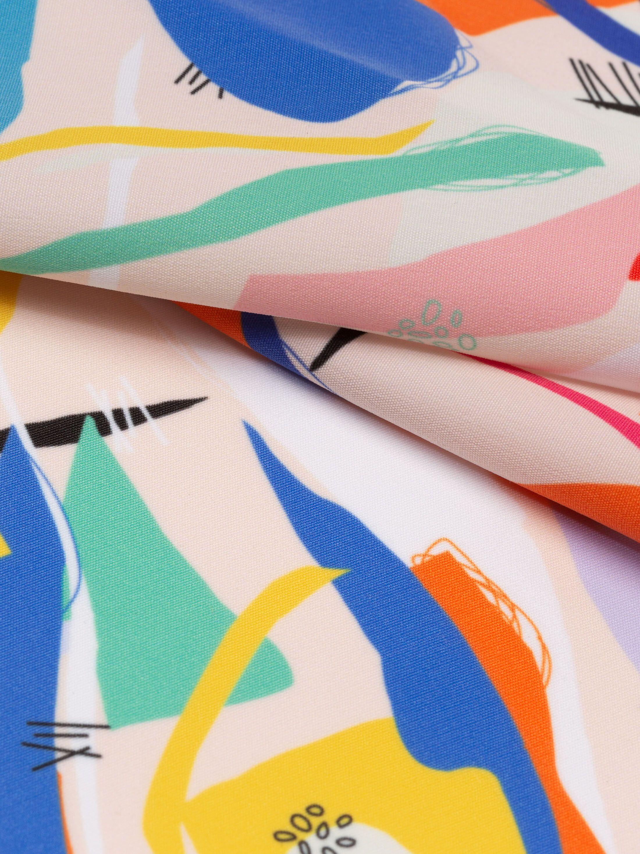 custom peach Poly fabric printing creased