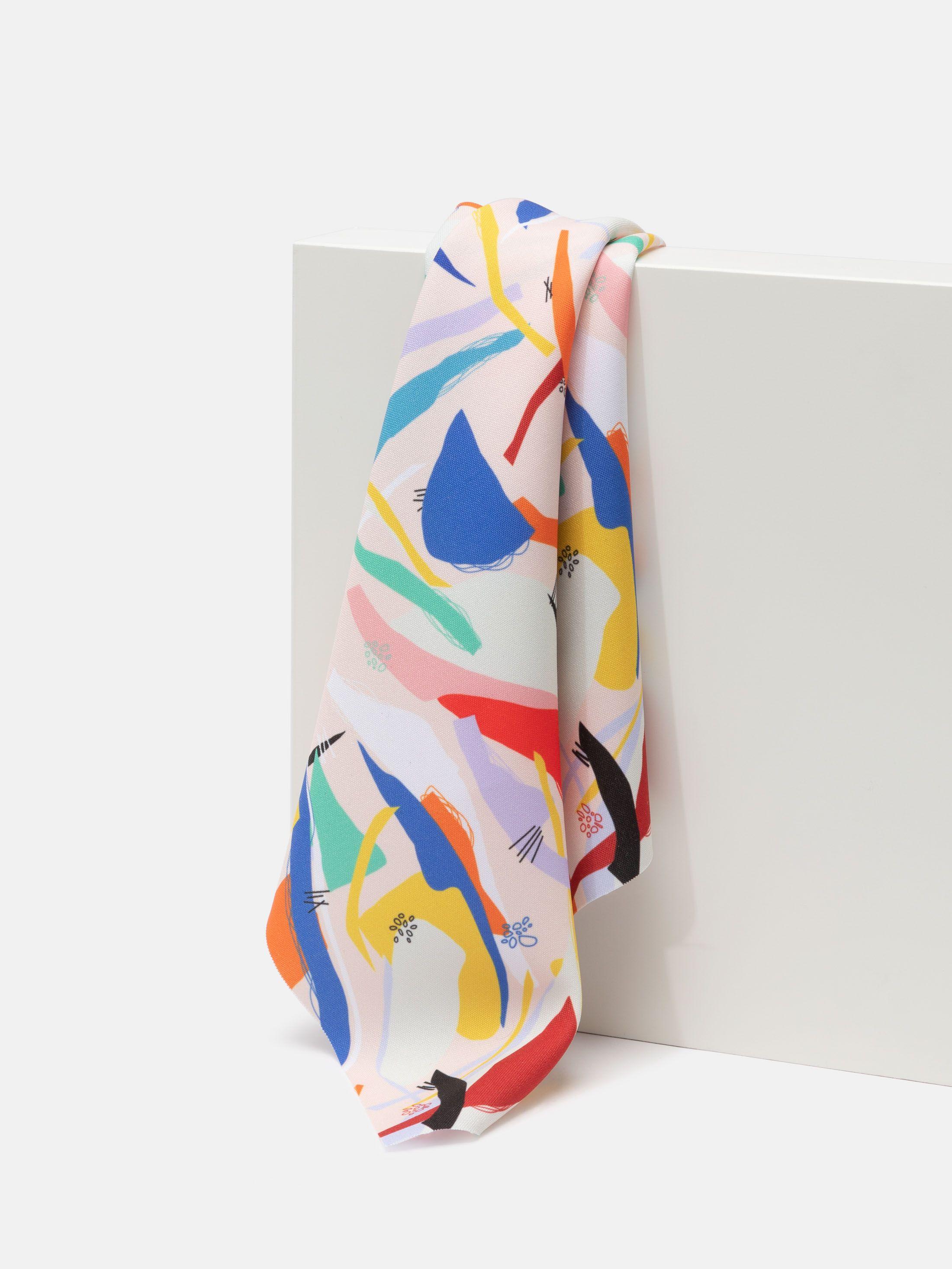 custom Panama Flo fabric printing fold swatches