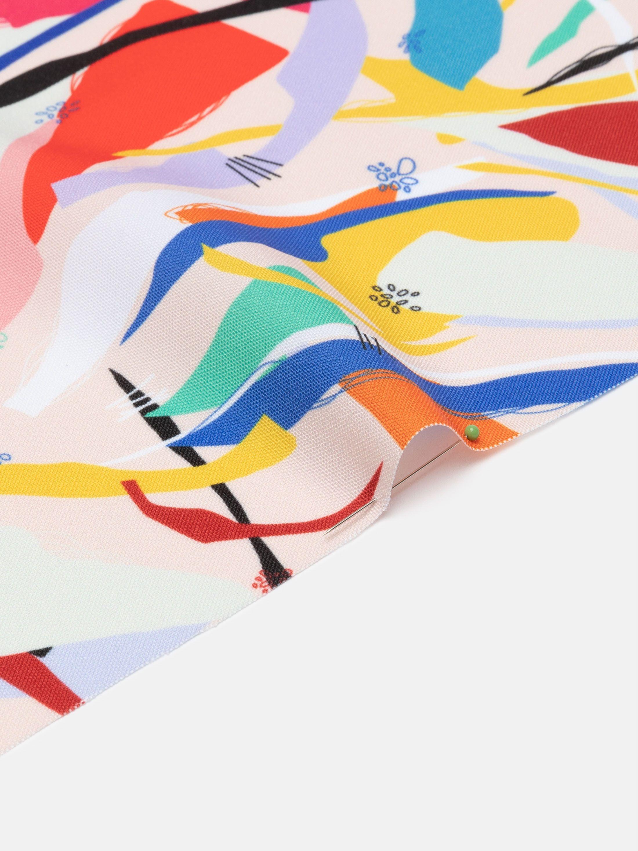 Panama flo fabric digital design sample