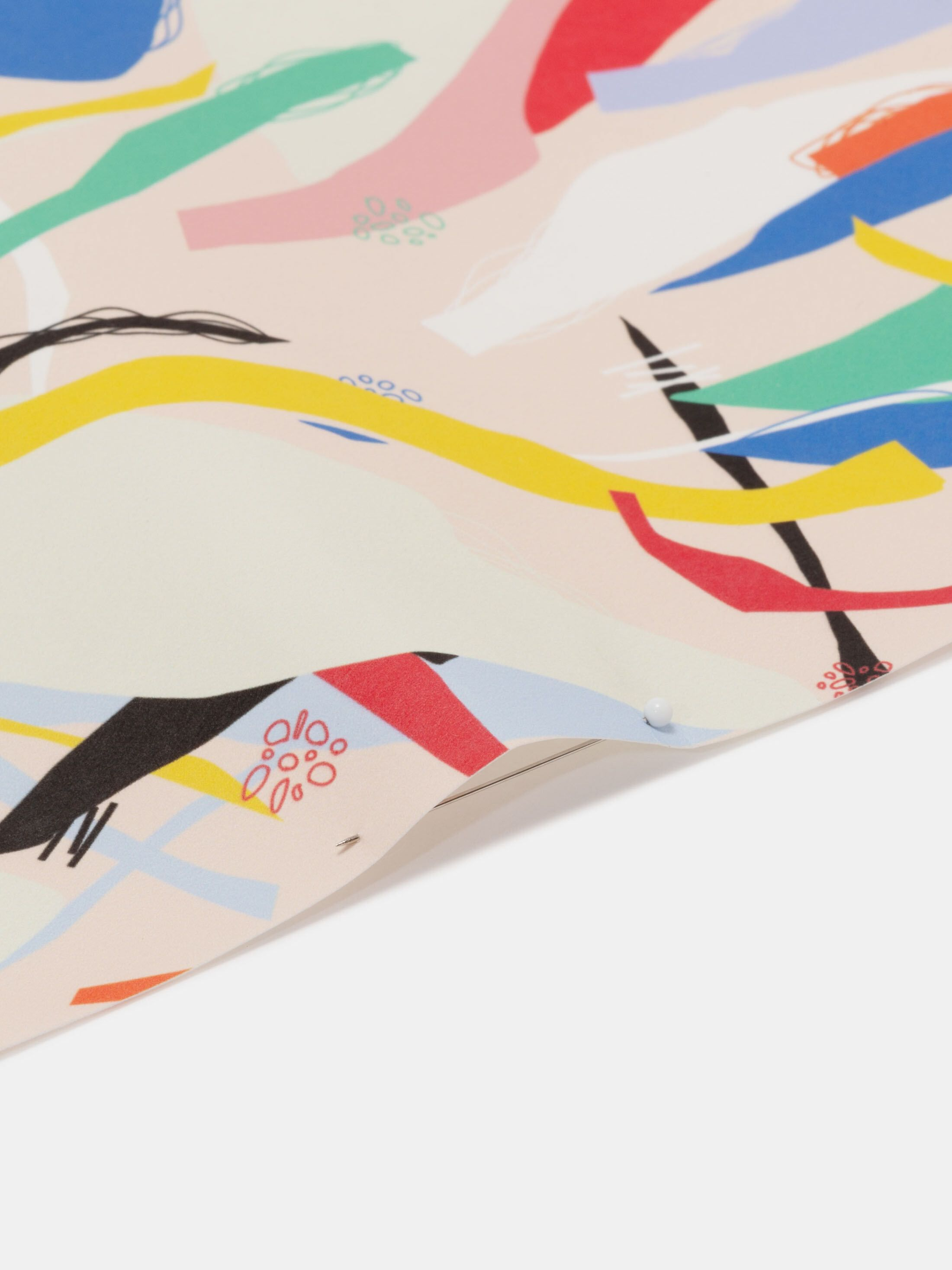 Scroll digital print fabric paper fabric