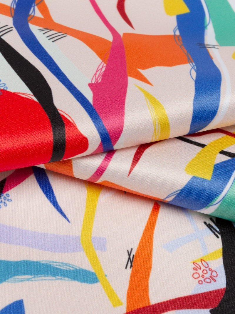 riflesso tessuto in raso duchessa da stampare