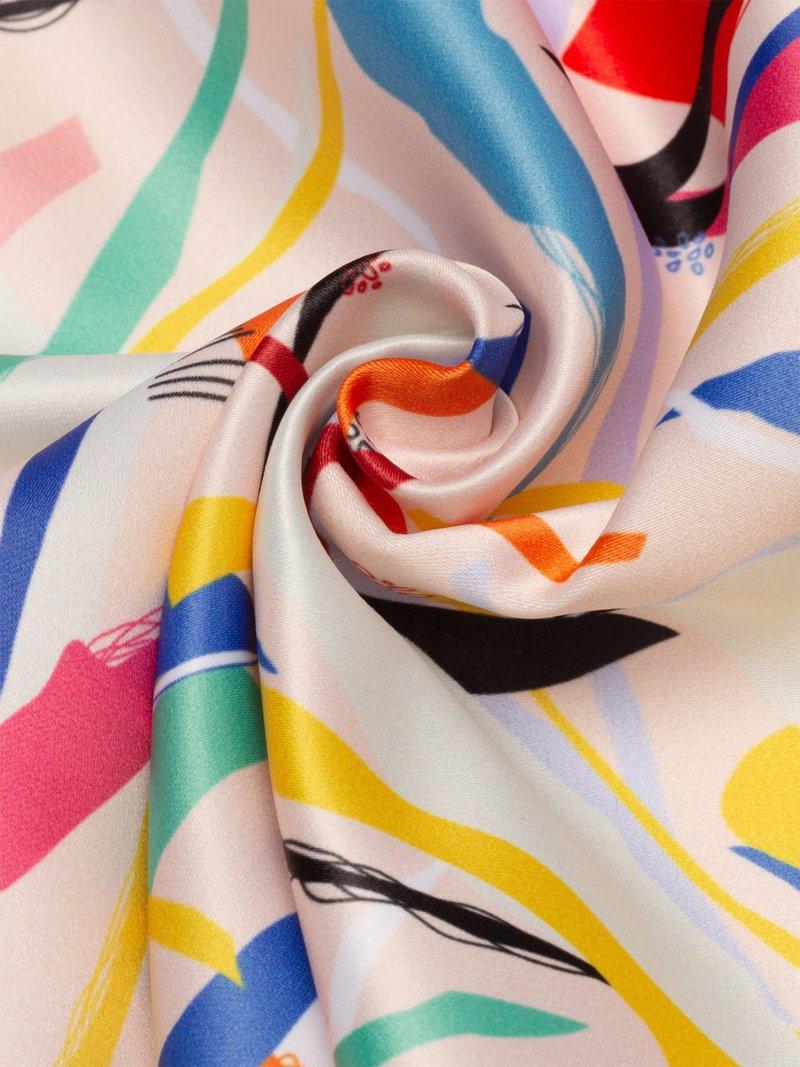 Satin fabric with thread