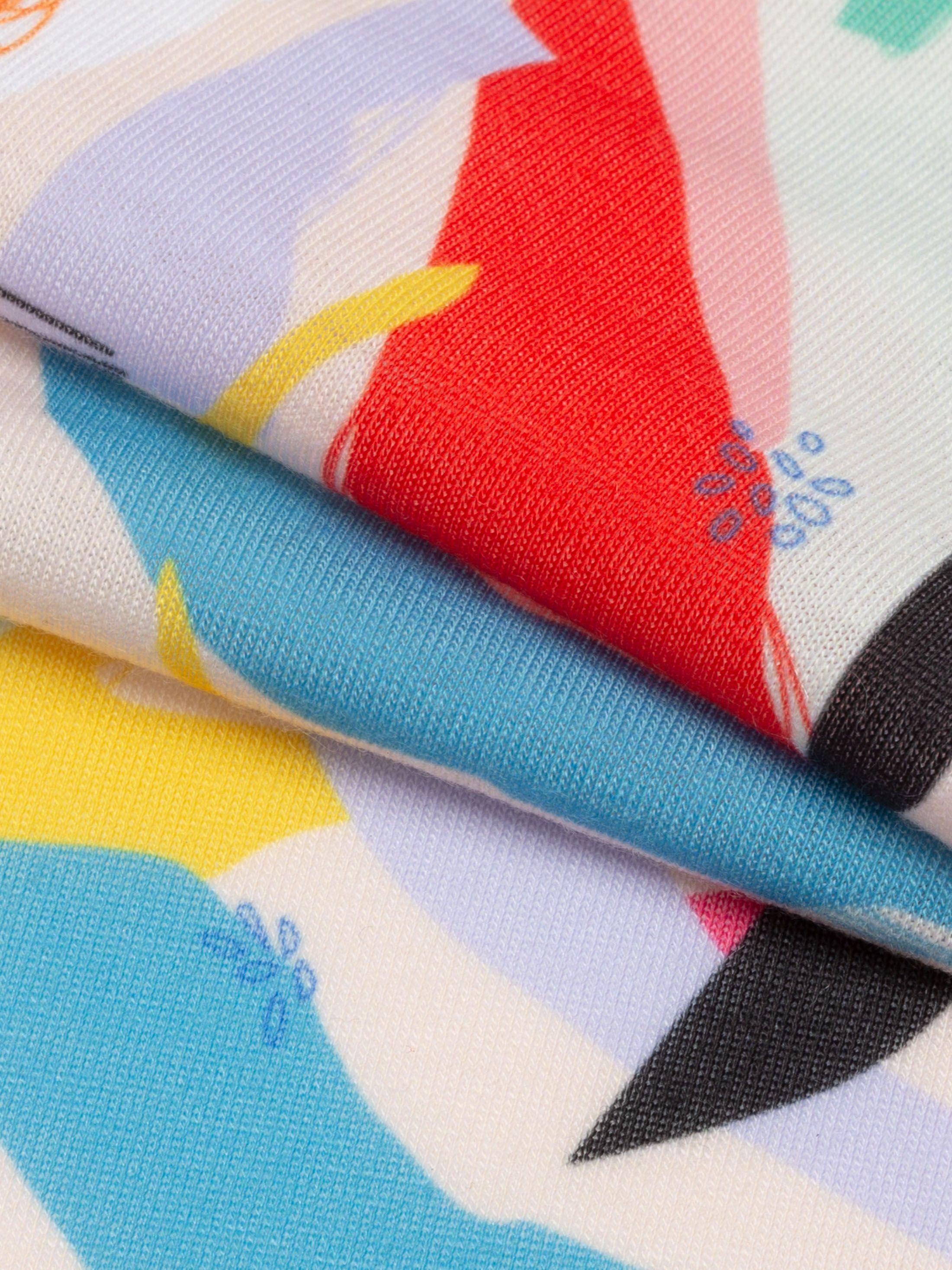 custom printed stretch jersey fabric edge options