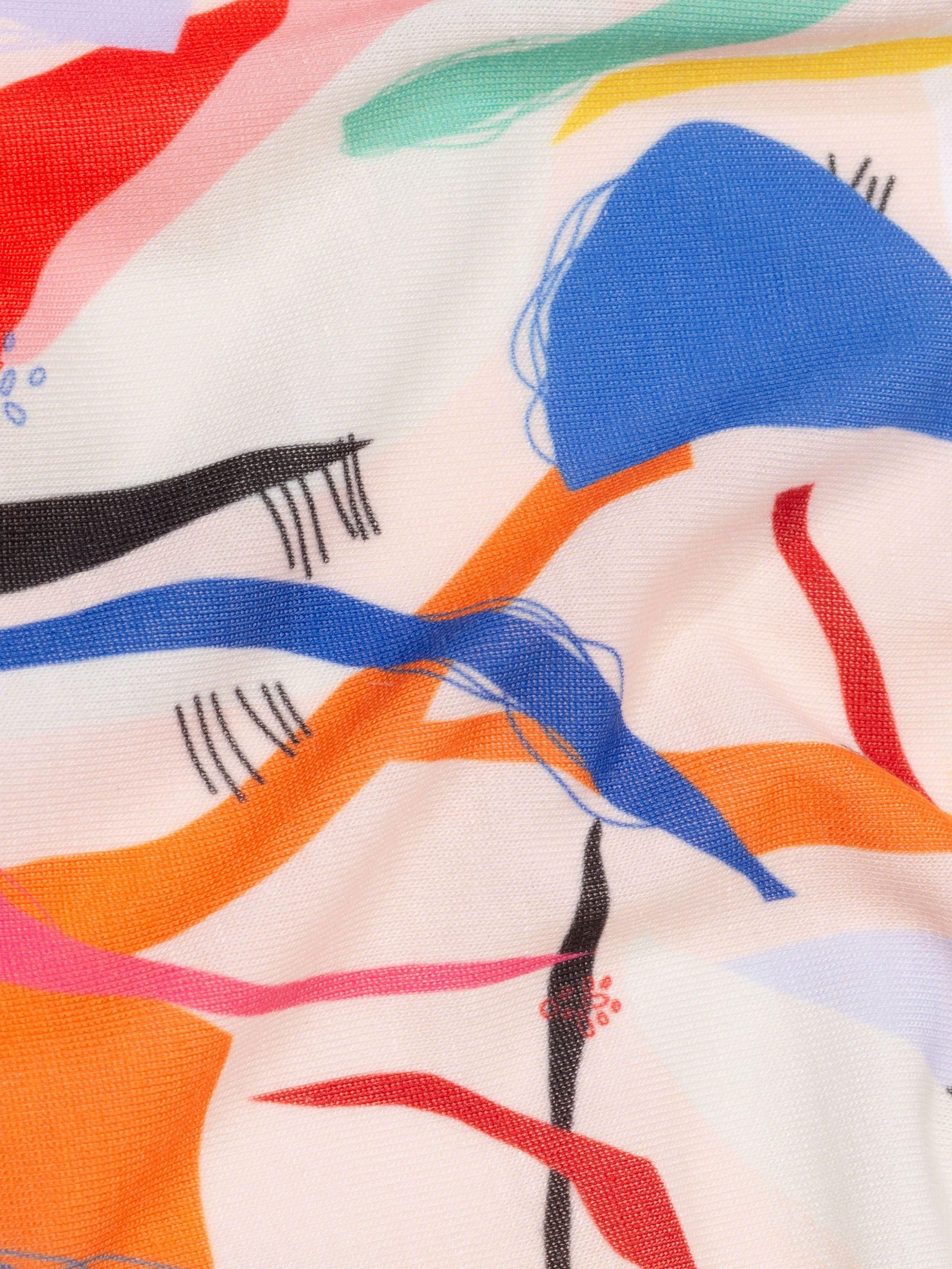 Impresión en algodón sintético jersey