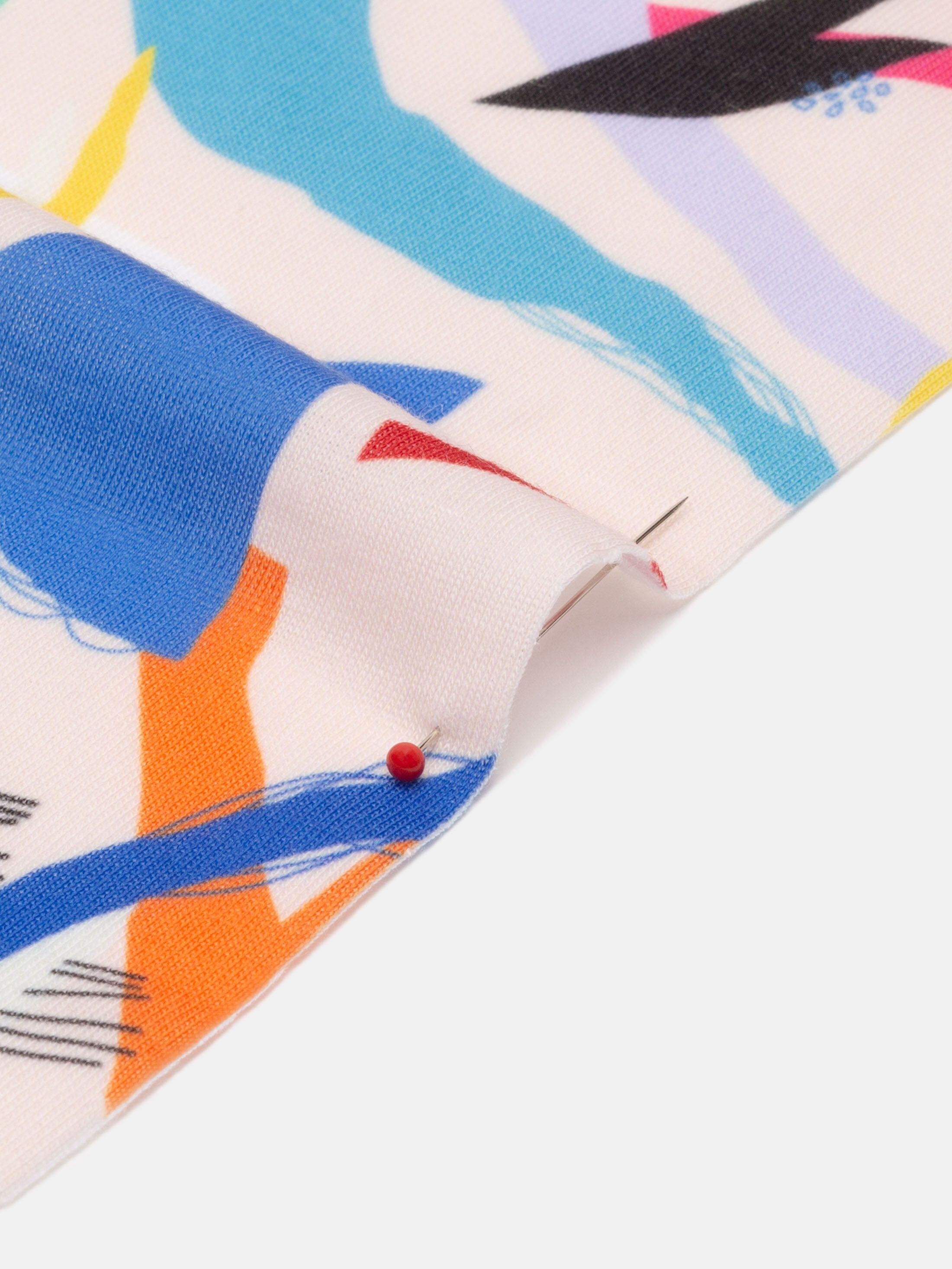 custom jersey stretch fabric printing