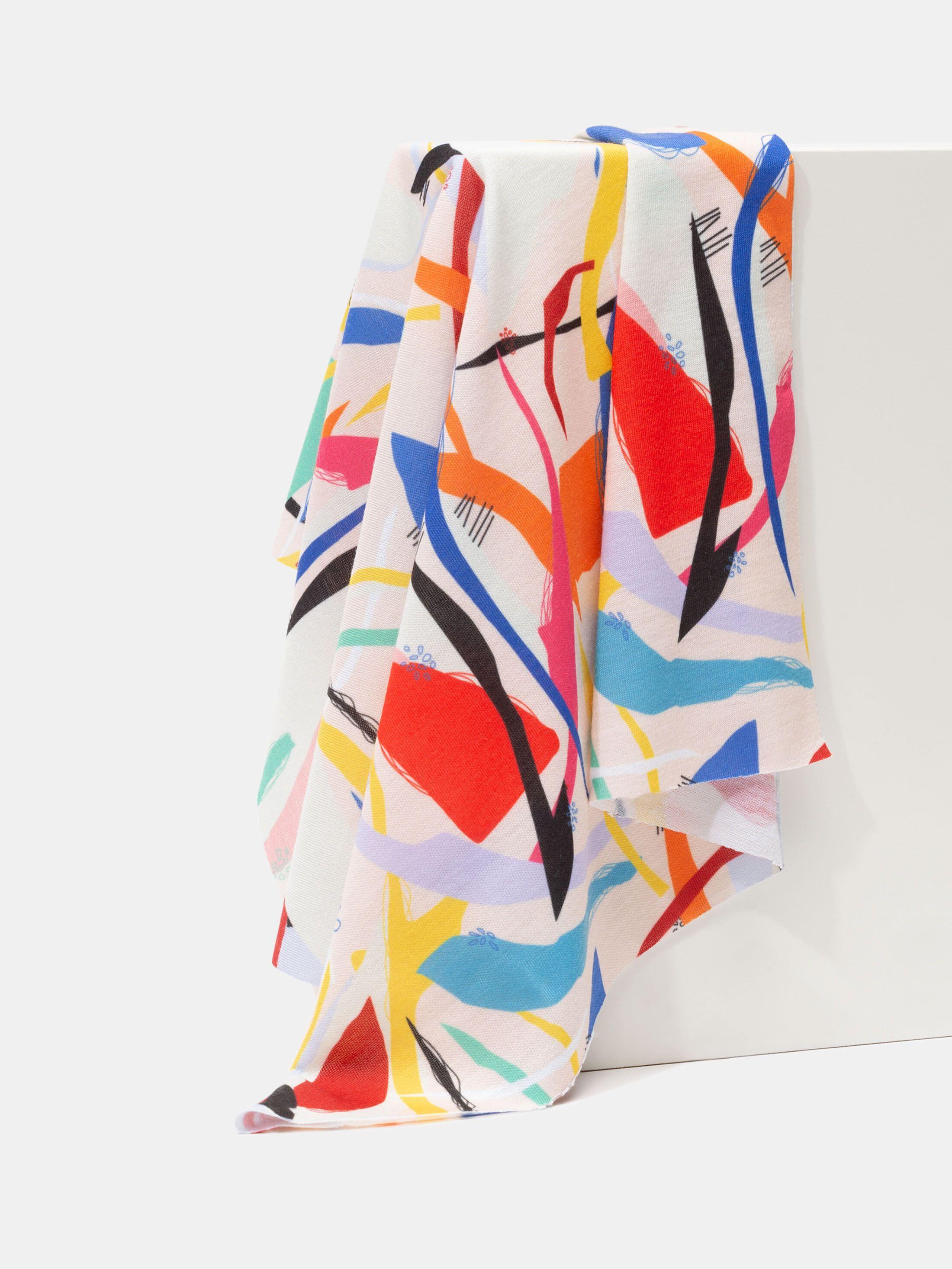 custom printed stretch jersey fabric