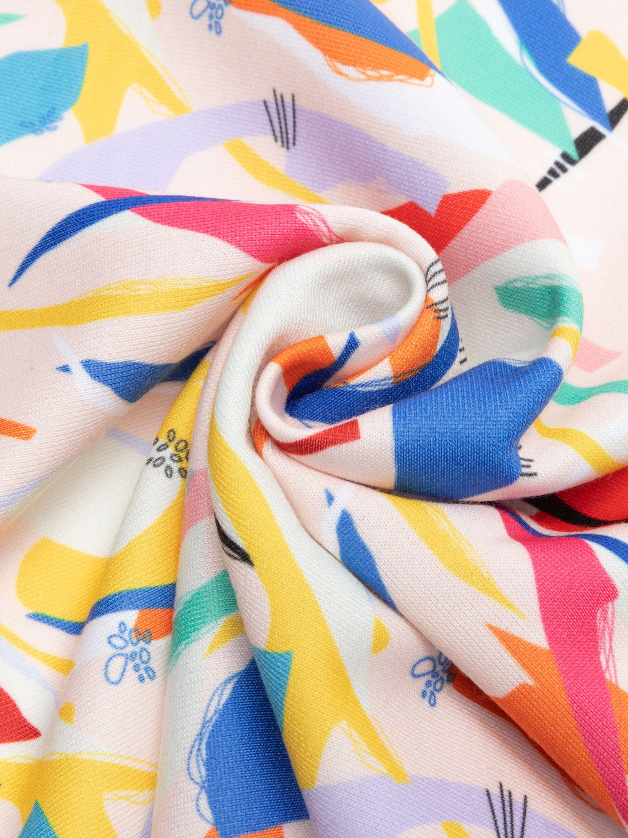 stampa su cotone elasticizzato loopback