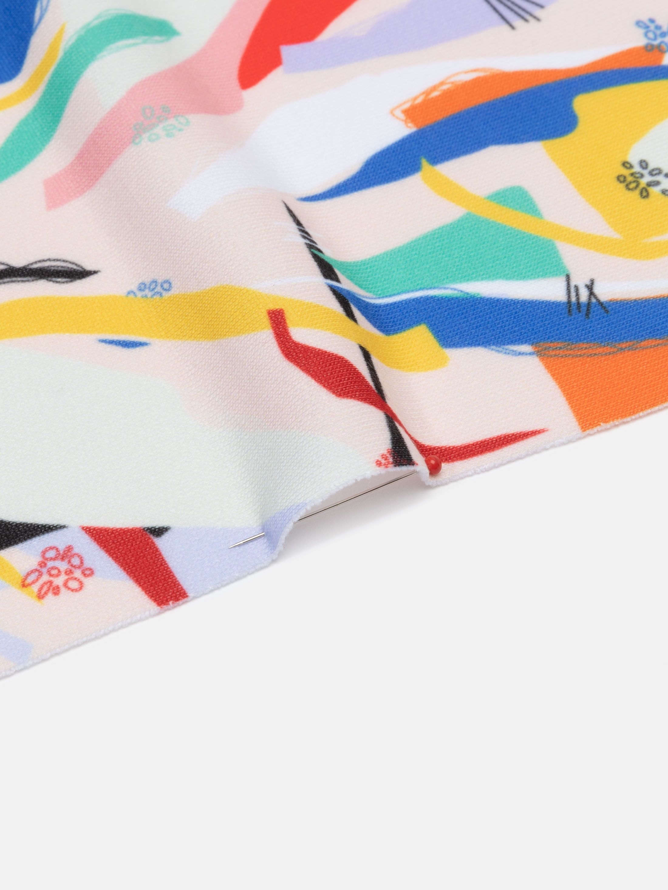 custom printed Loop Back Jersey fabric