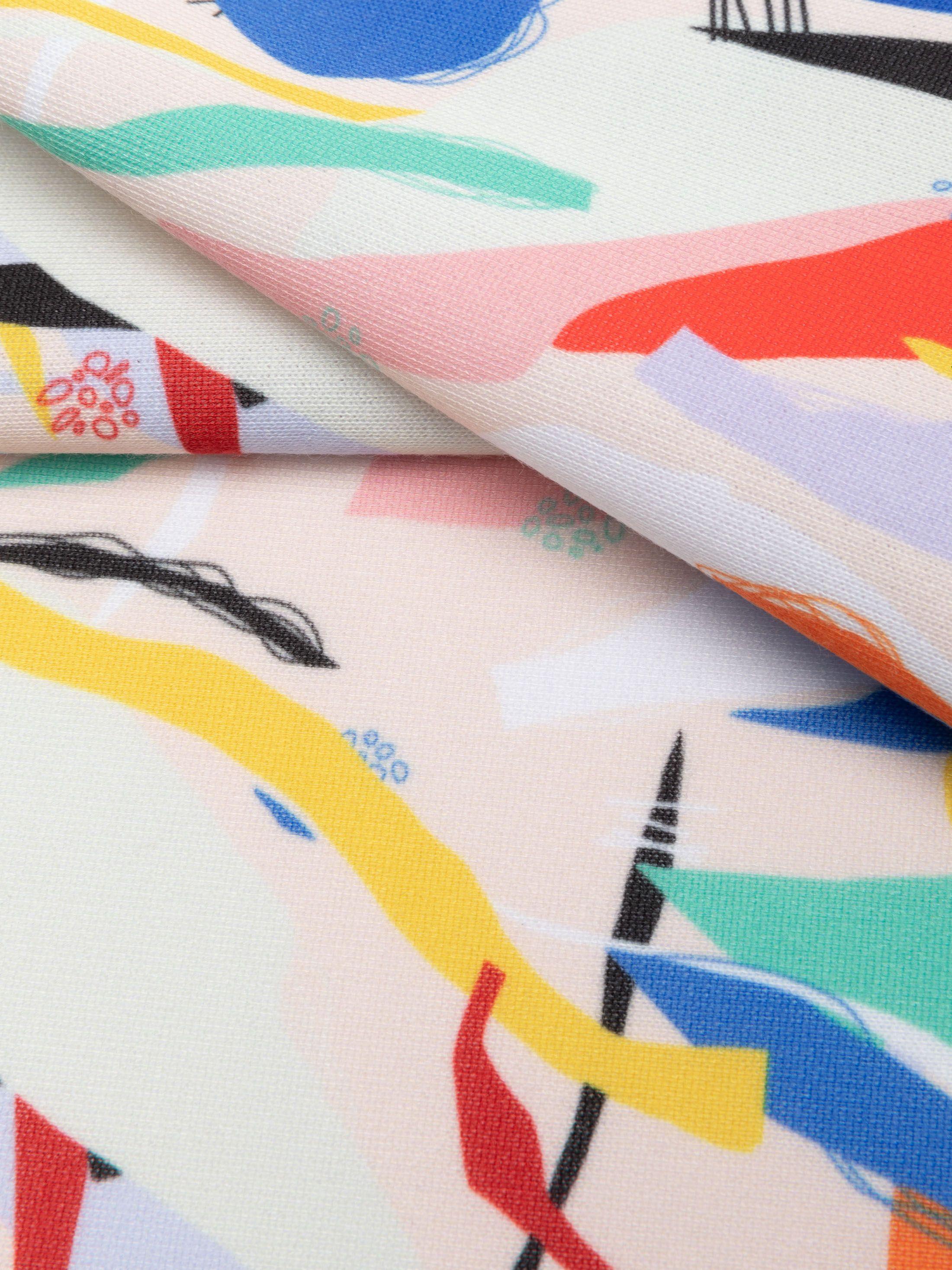 custom print Loop Back Jersey fabric