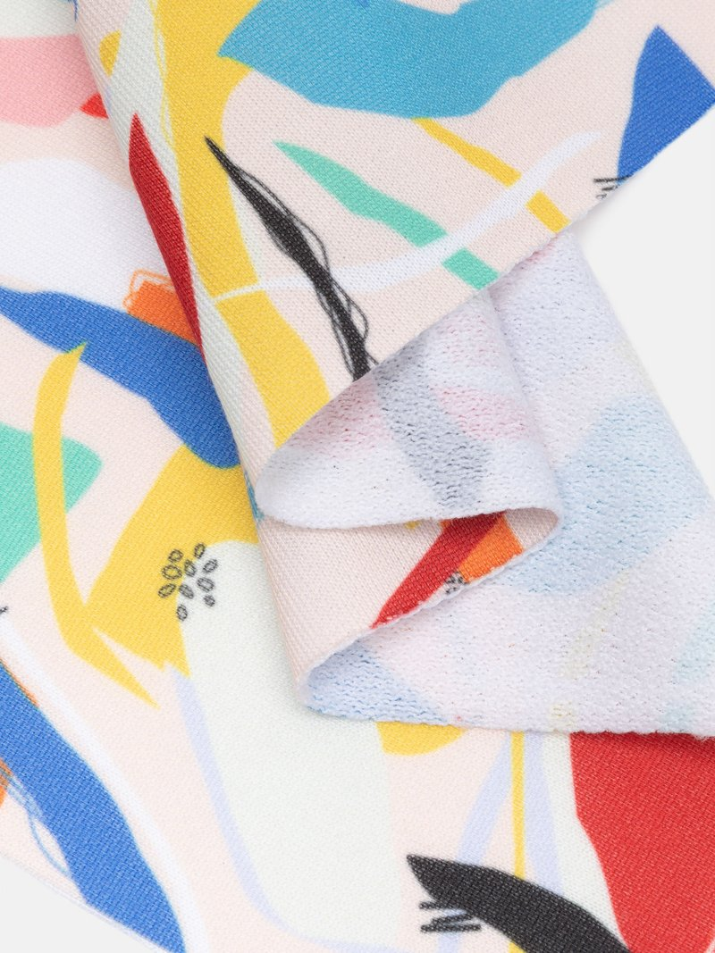 custom print Loop Back Jersey Printing fabric