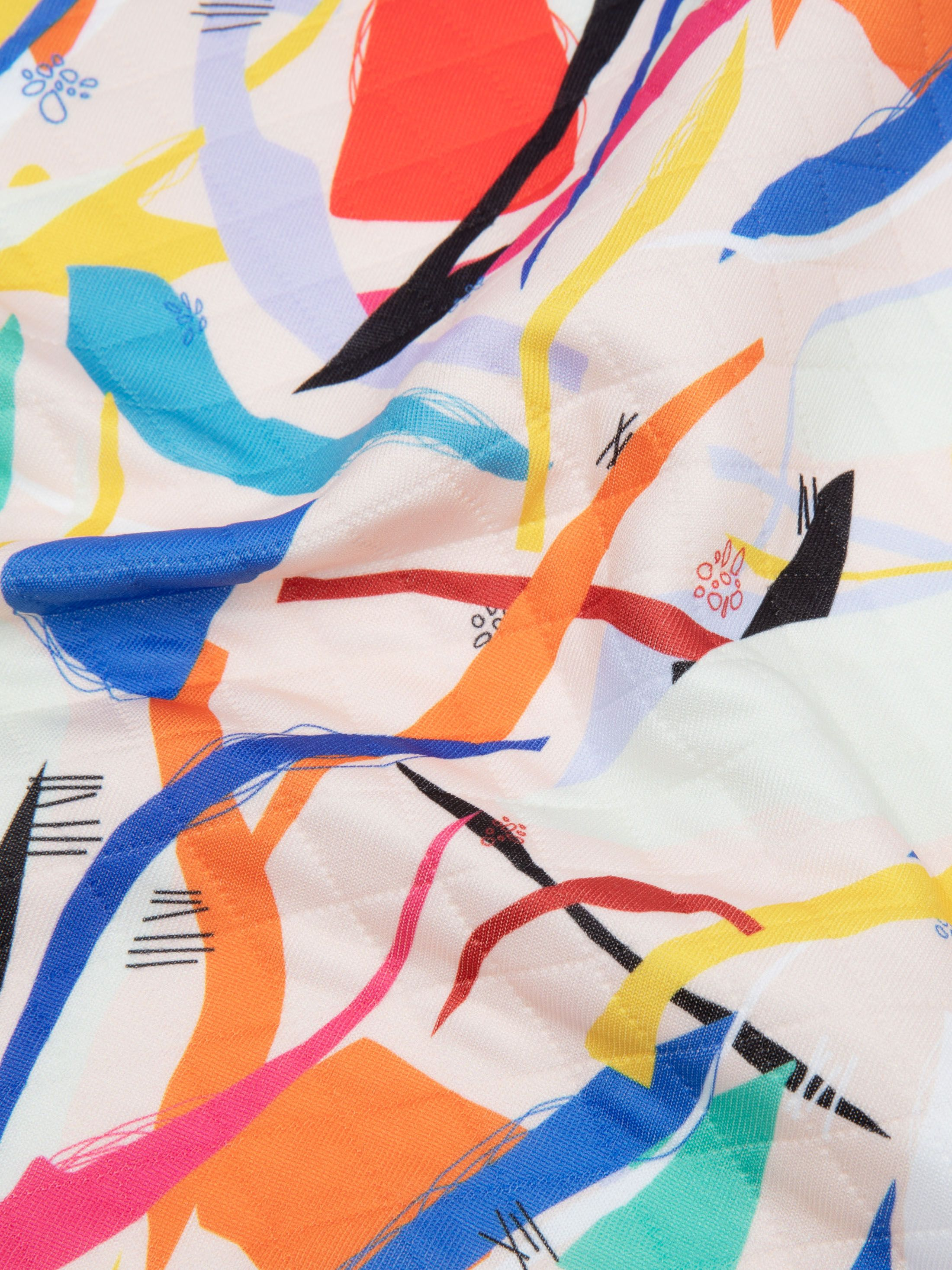 digitaal bedrukken van gewatteerde jersey stof met vulling