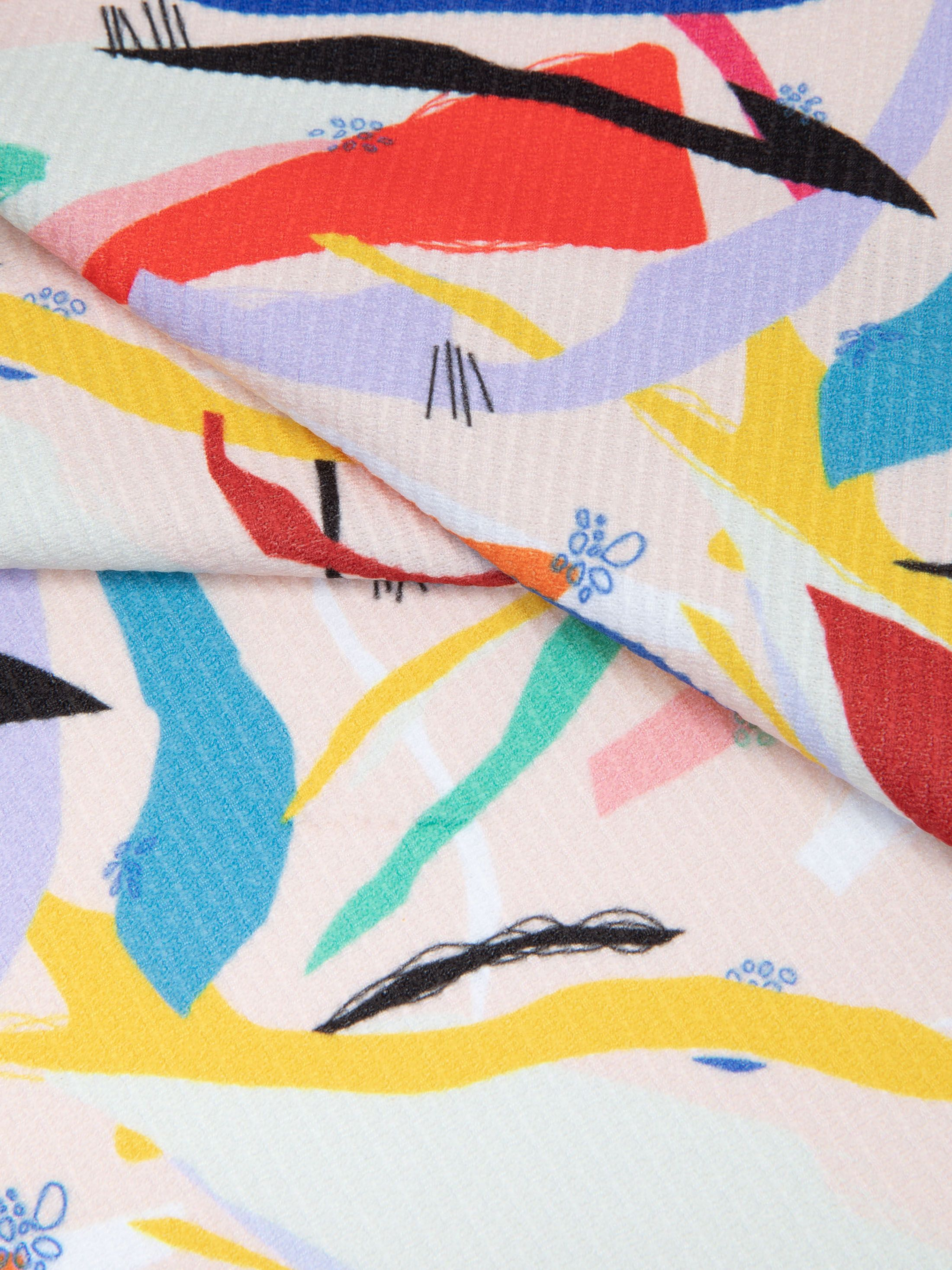 custom made Chain Jersey fabric pinned