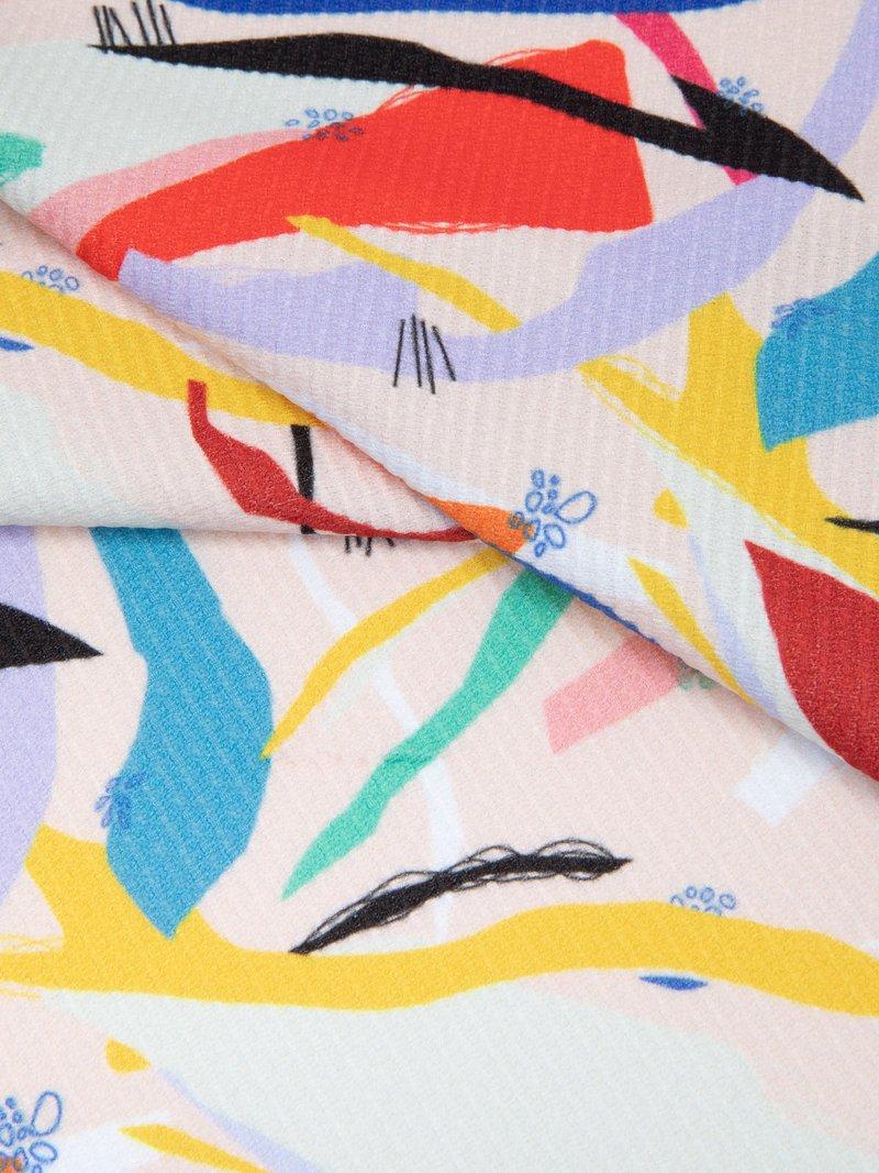 print Ketting Jersey stof rand opties