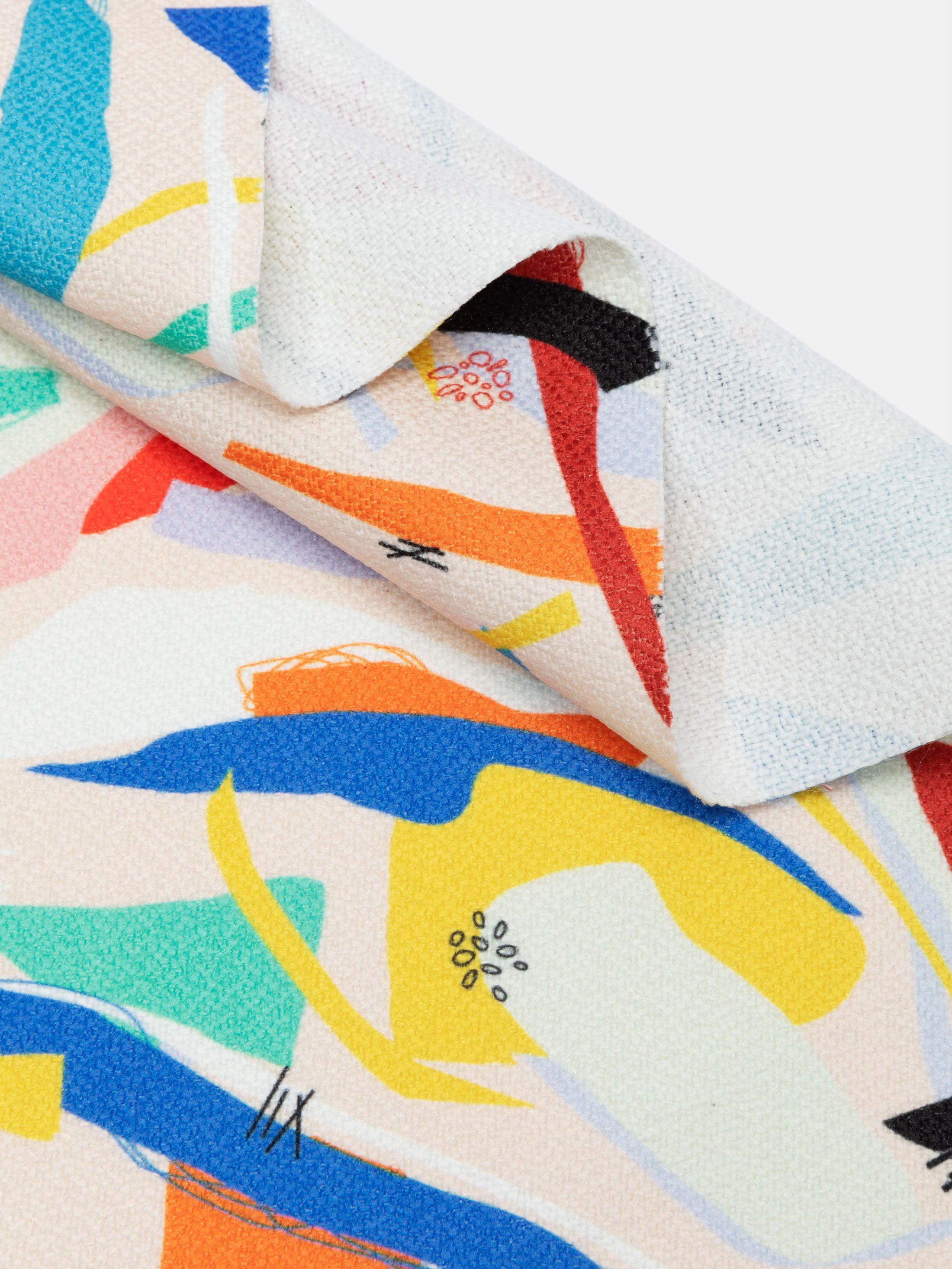 digital Gaia Eco Woven printing folded pleats