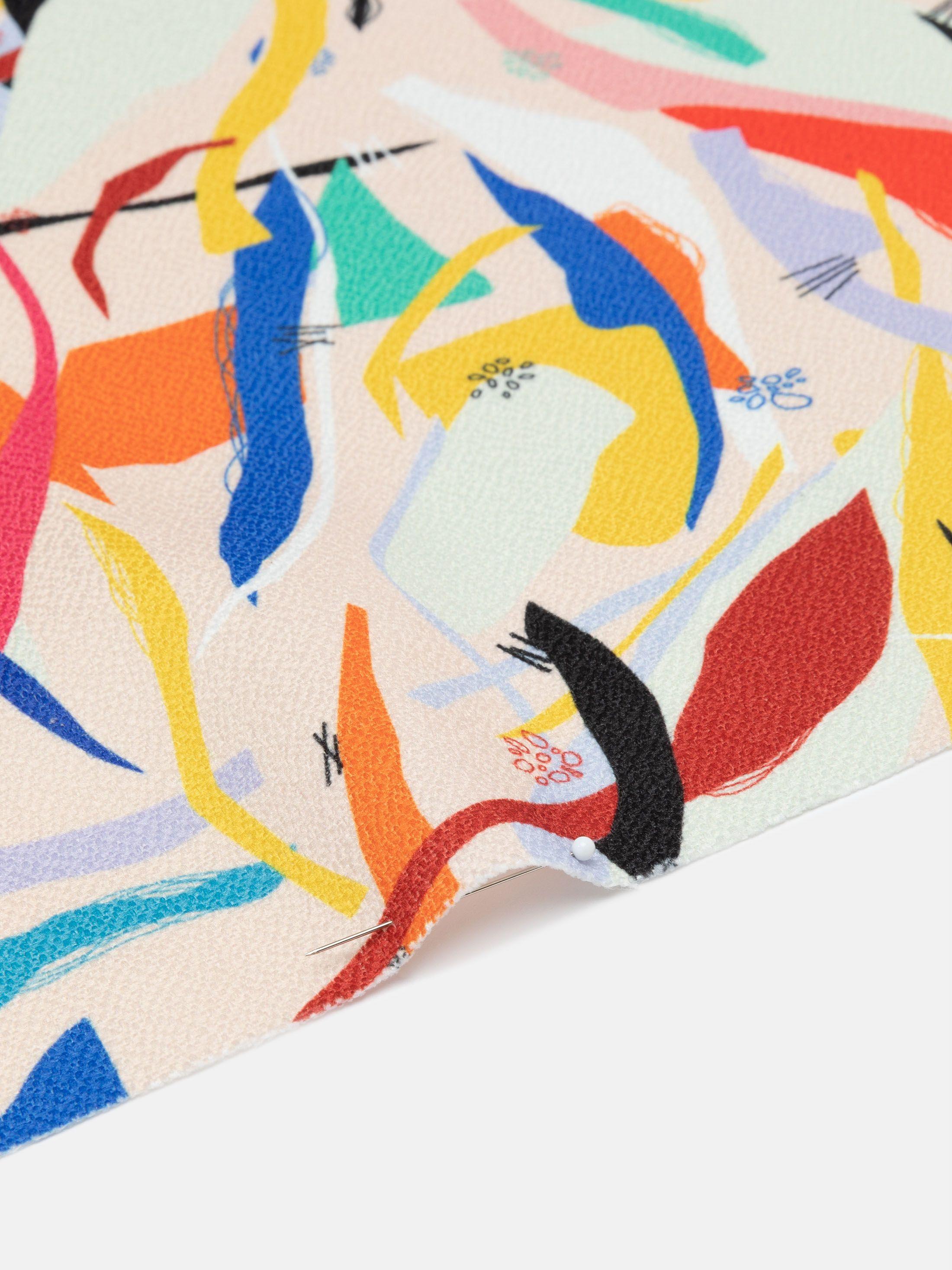 digital printing on Gaia Eco Woven fabric spiral