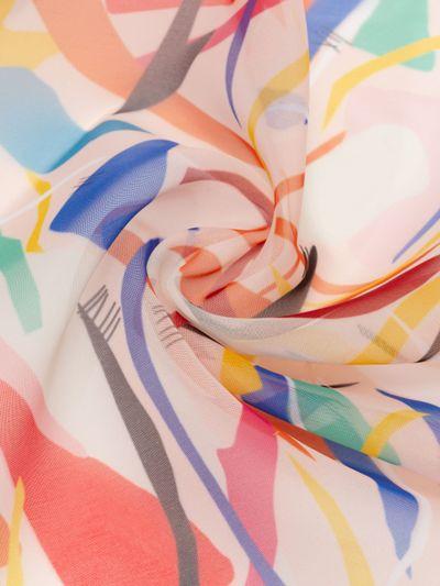 Print on wool silk fabric