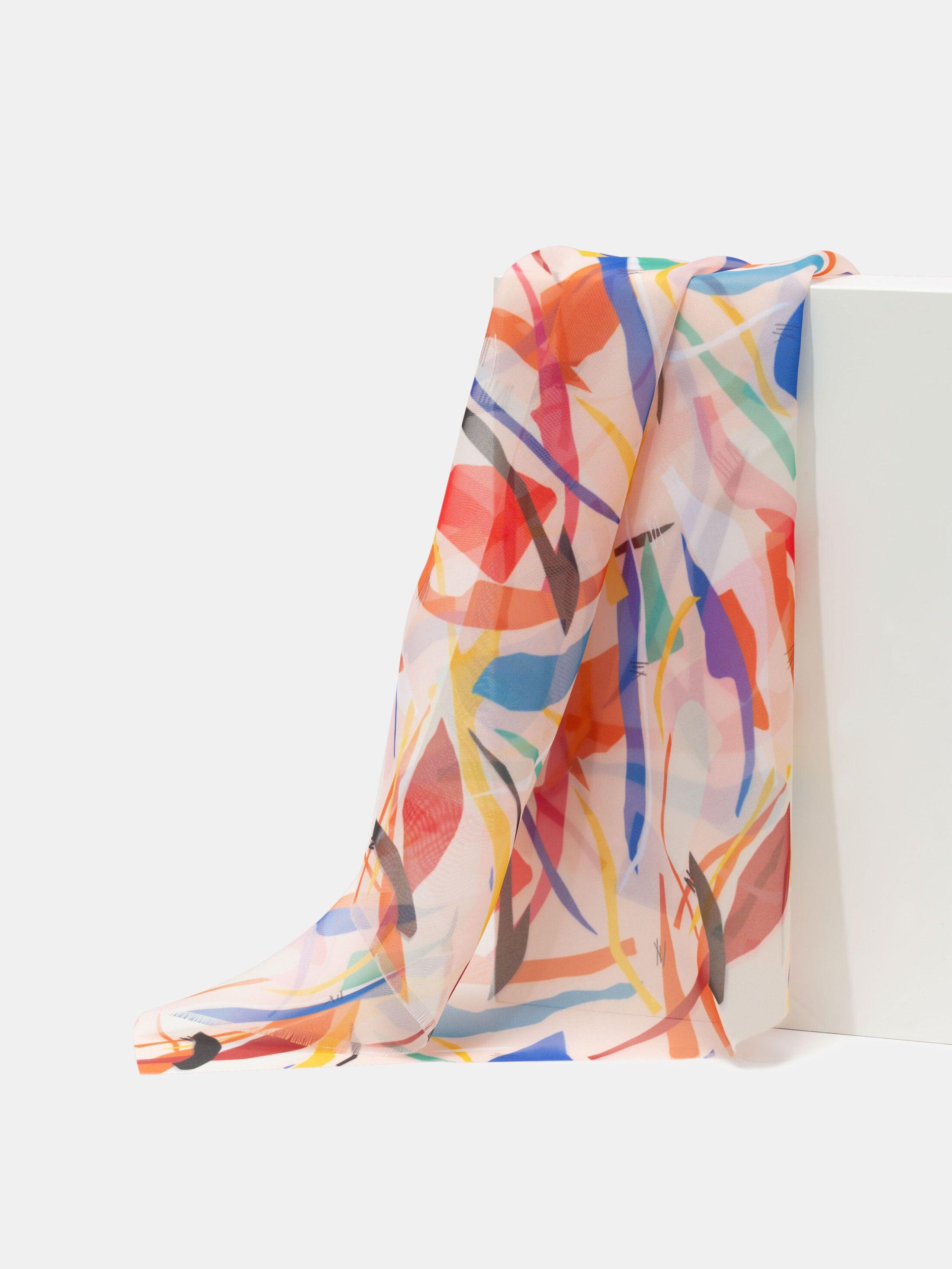 personalised wool silk fabric