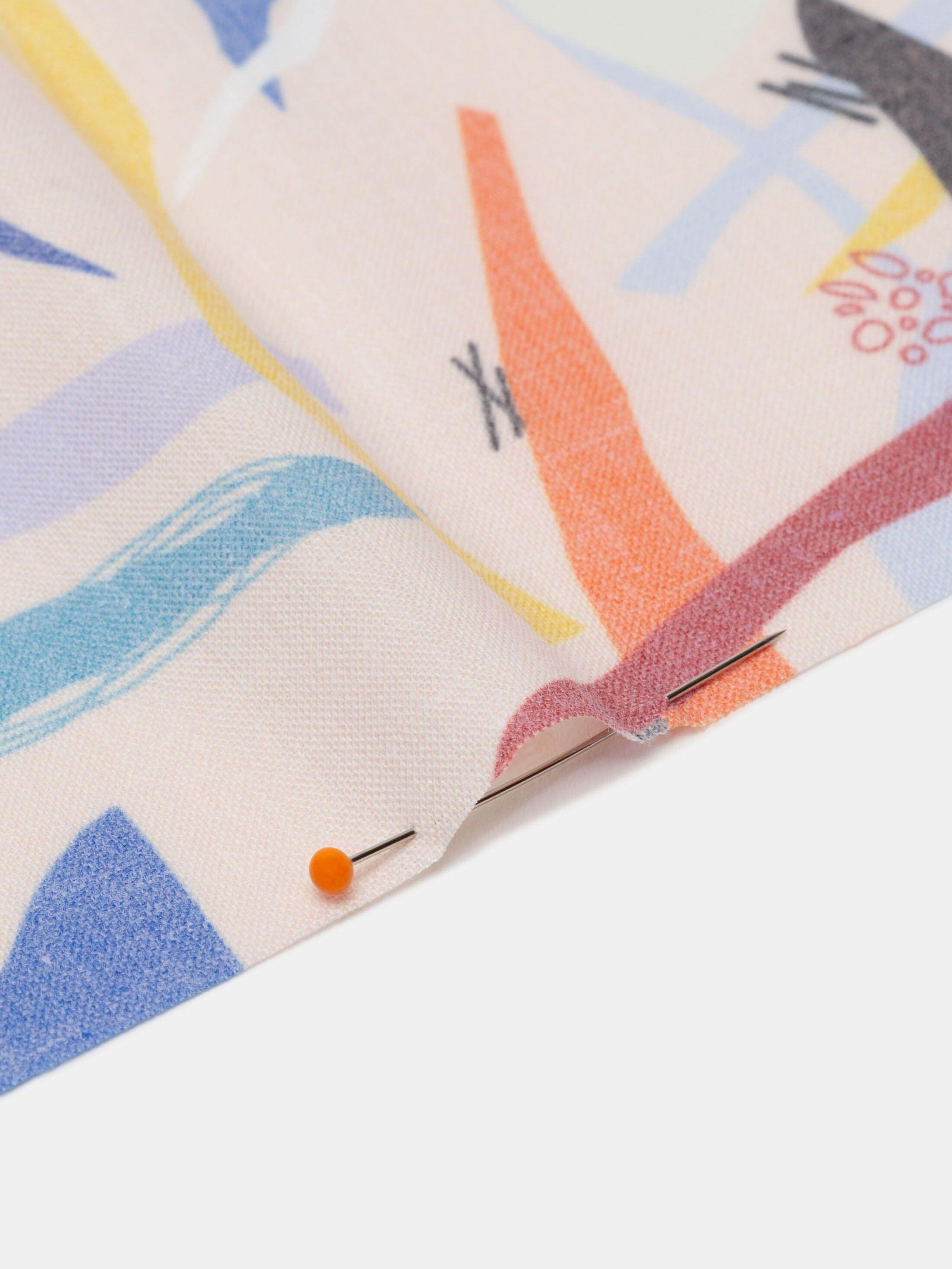 Sublimación textil en polialgodón retro