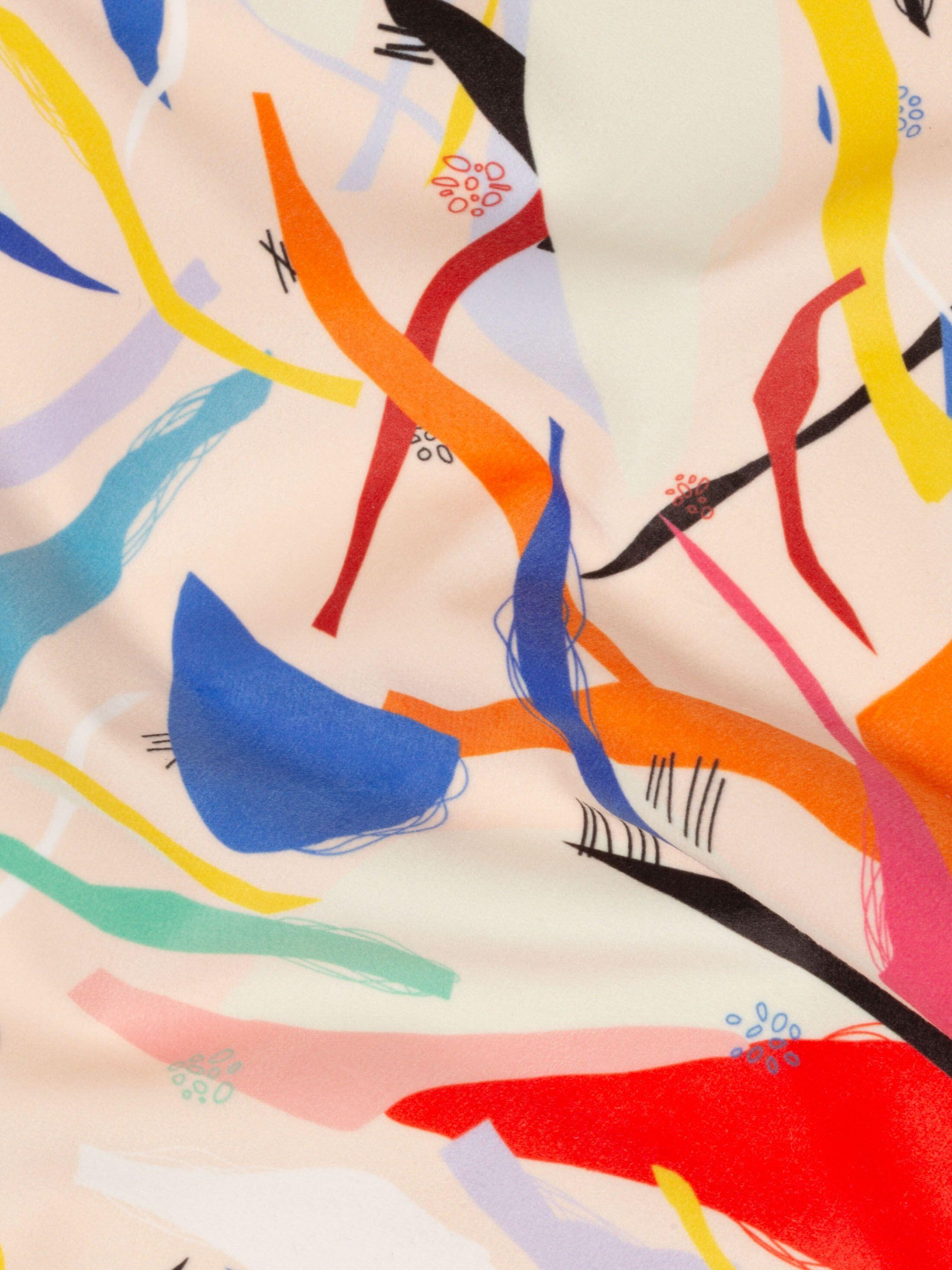 velour fabric custom printed