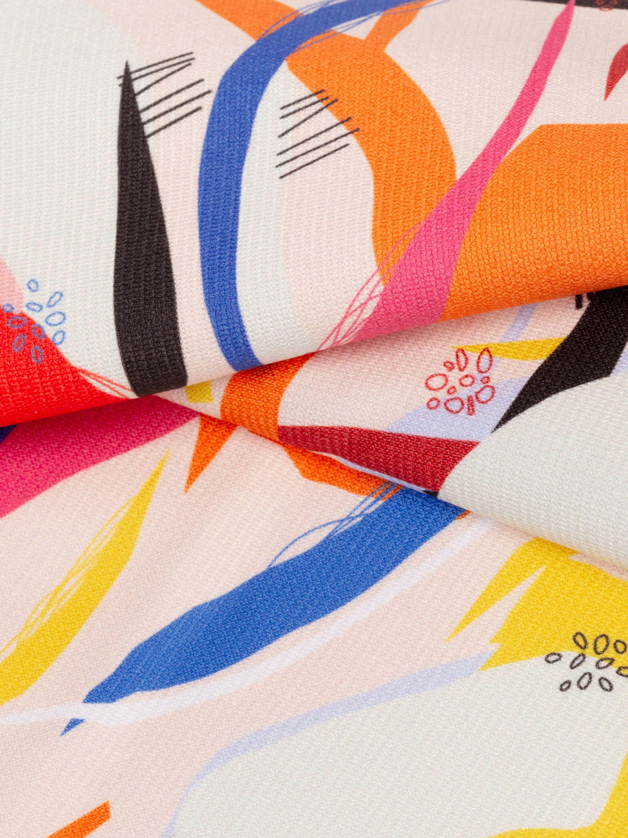 custom Heavy Jersey fabric printing swatch