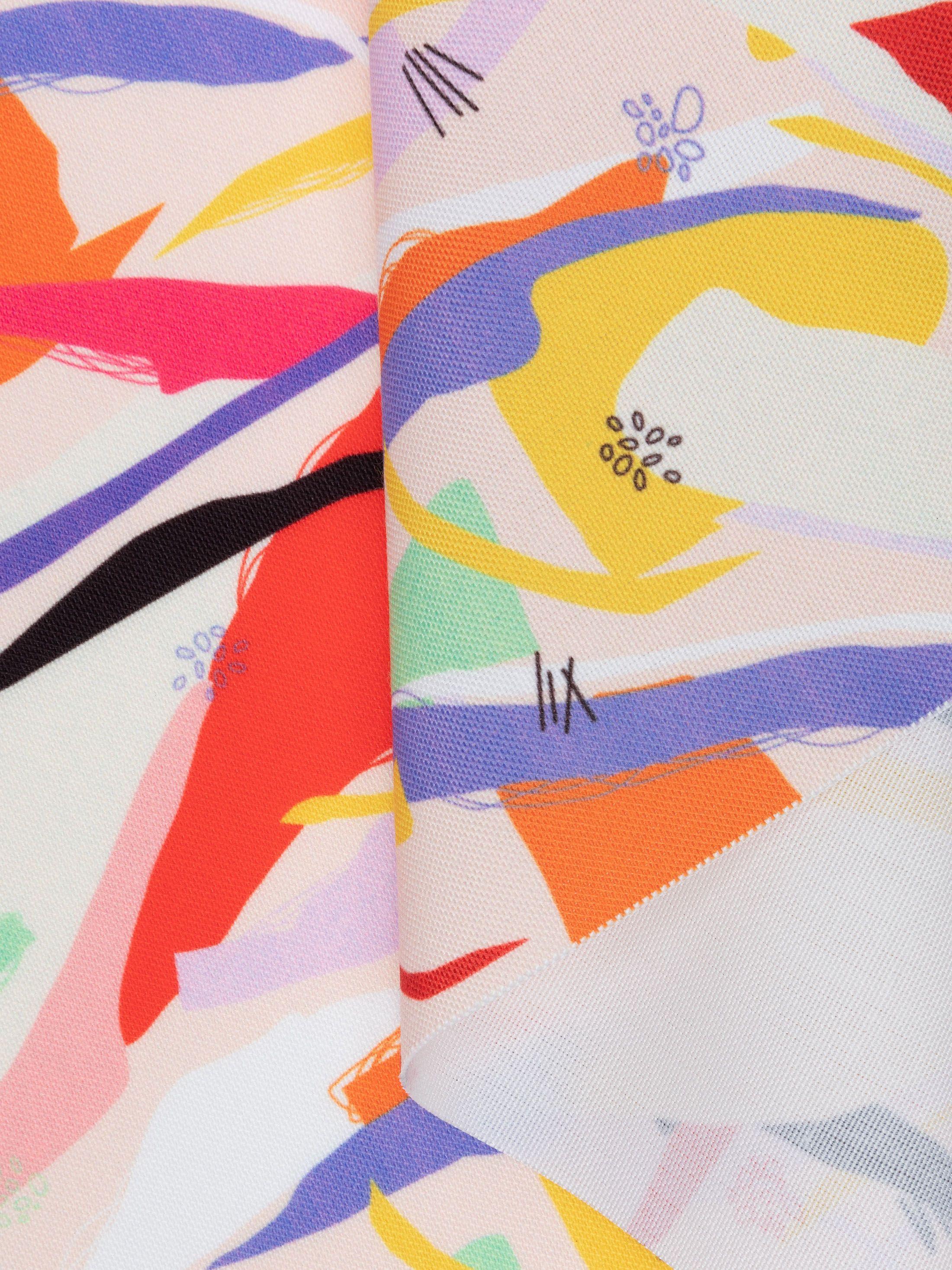 bedrukken van Portobello Canvas stof getextureerd weefsel