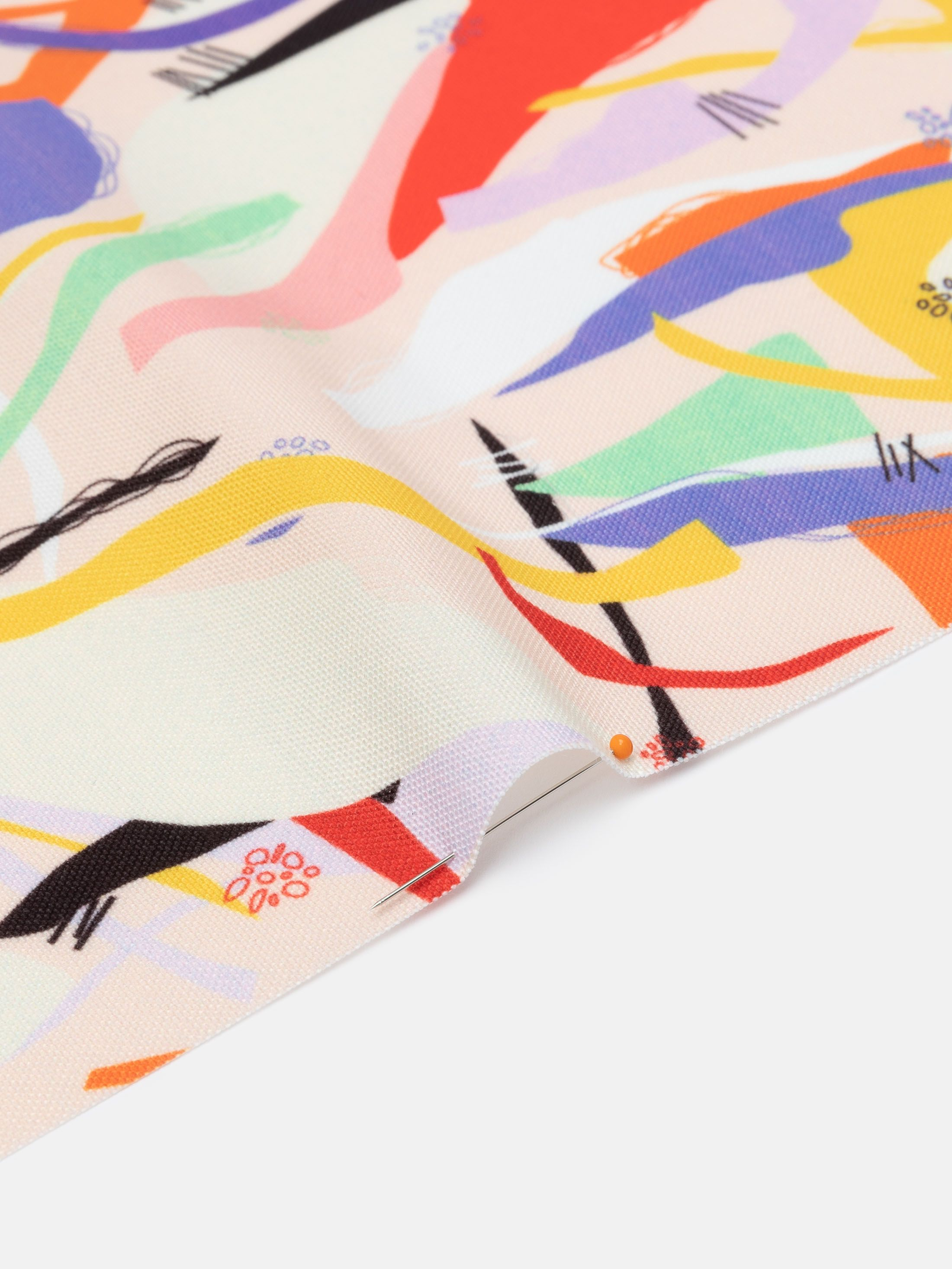 printing Portobello Canvas fabric penned reverse