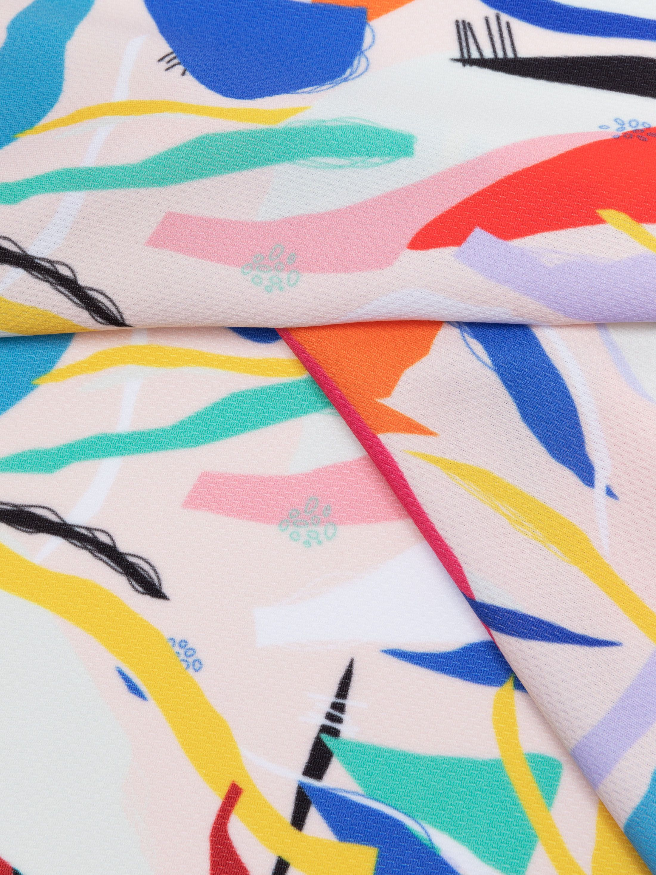 sportieve Airflow stof bedrukt oppervlakte detail