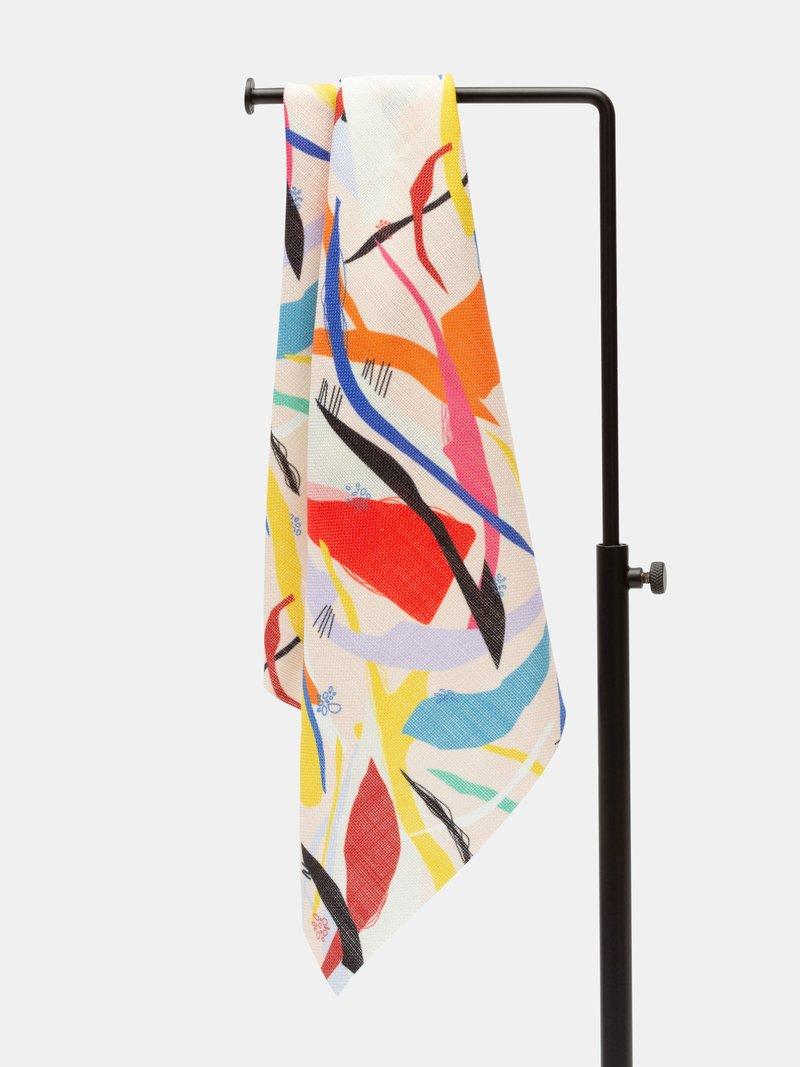 print on linen Weave fabric