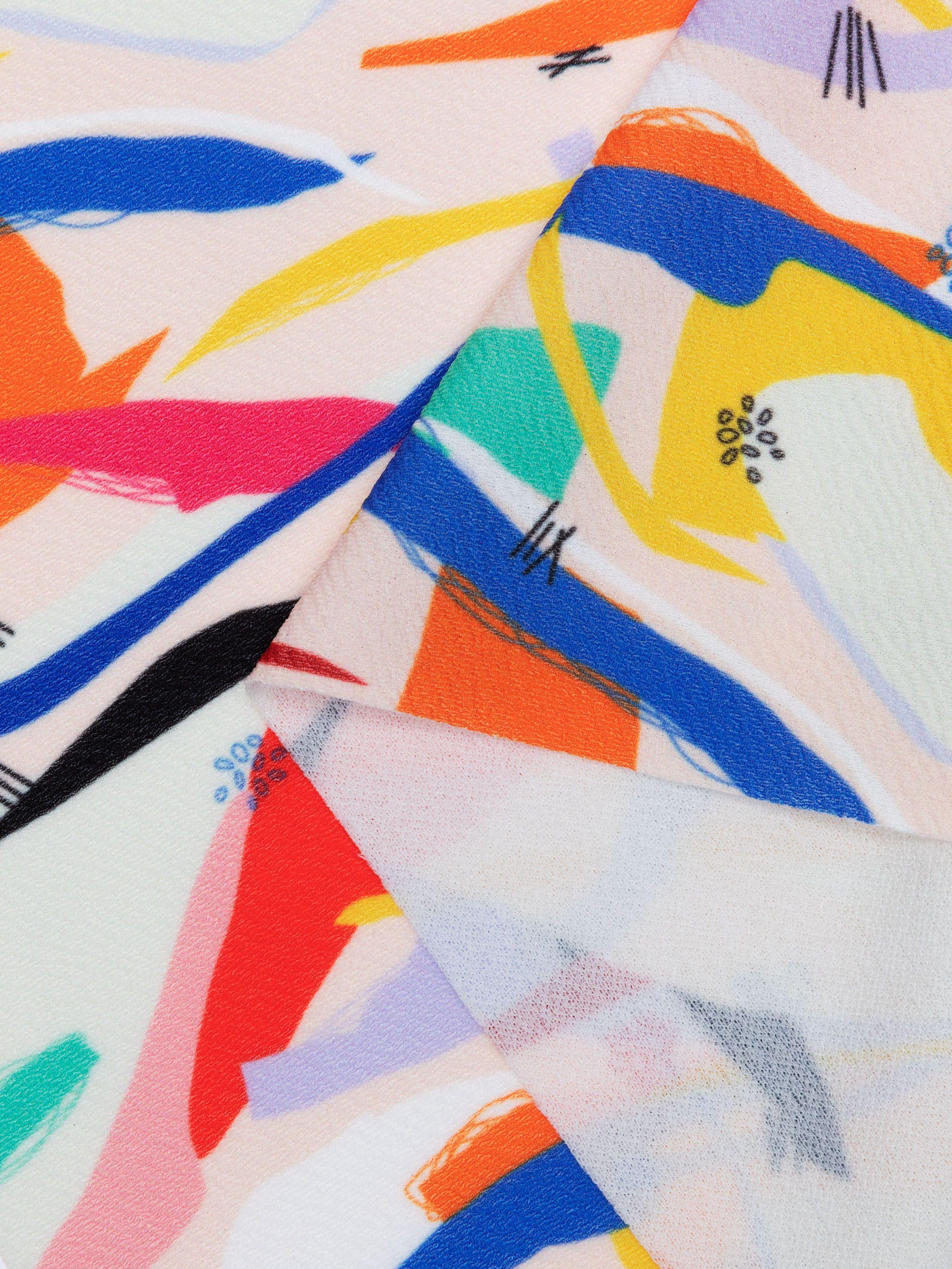 Tissu stretch impresion en couleur
