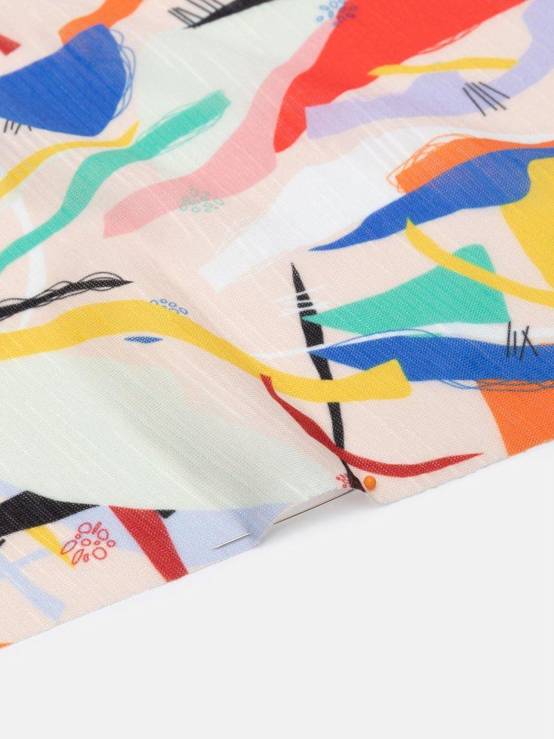 Slub printed fabric design