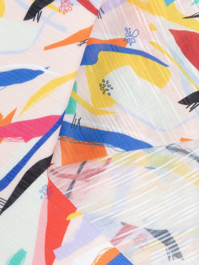 Slub Jersey swirled fabric synthetic fabric