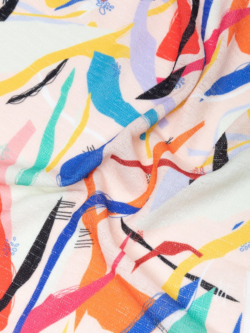 stampa jersey a maglia larga