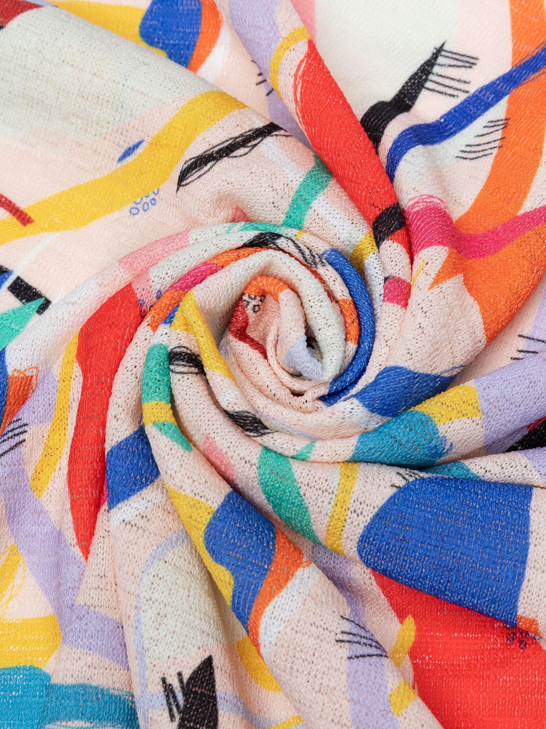Loose knit fabric printing