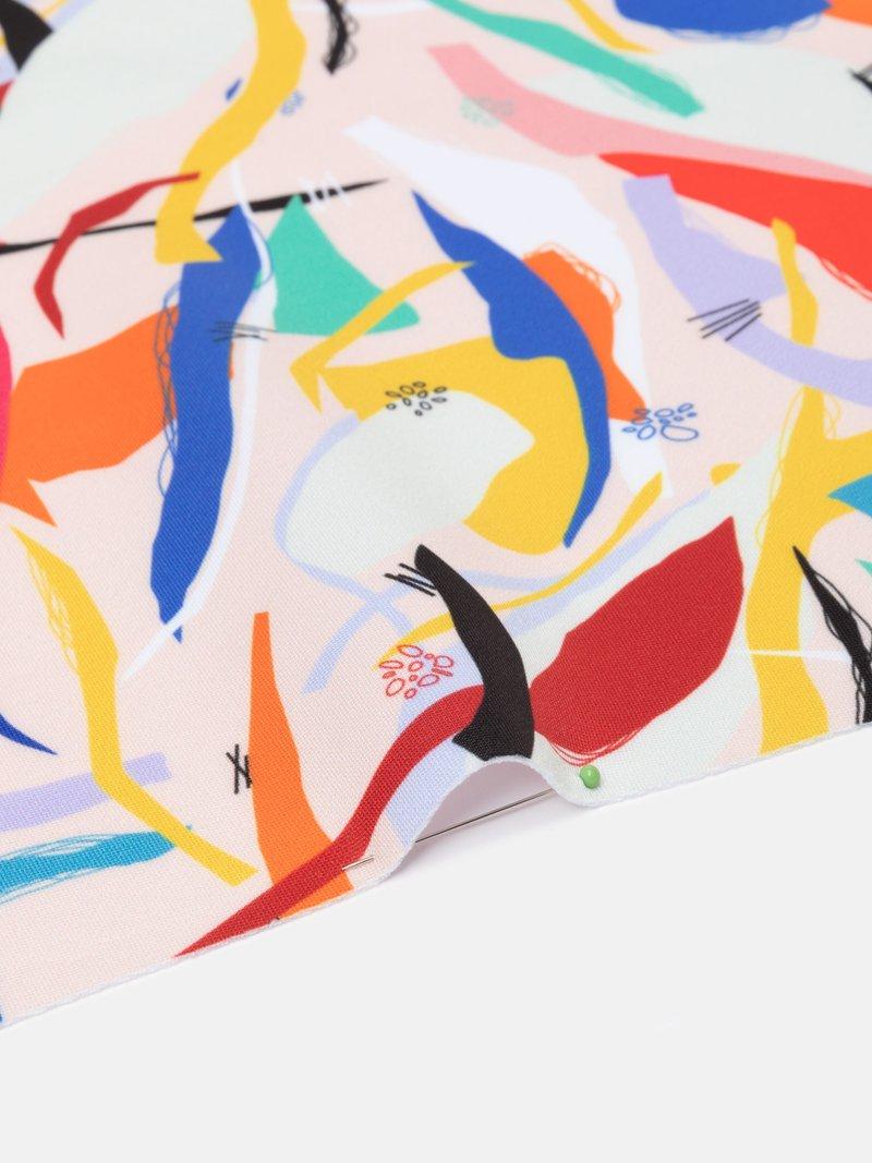 digitaldruck auf scuba Stoff detailansicht