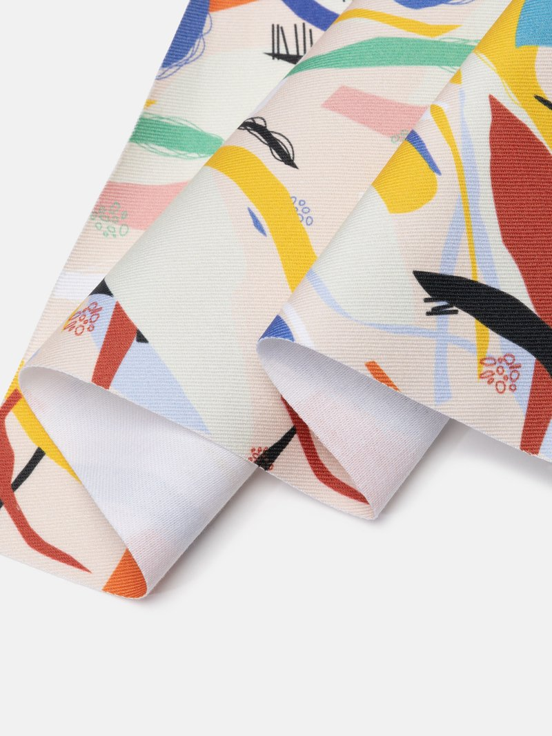 Edge options for custom printed drill fabric
