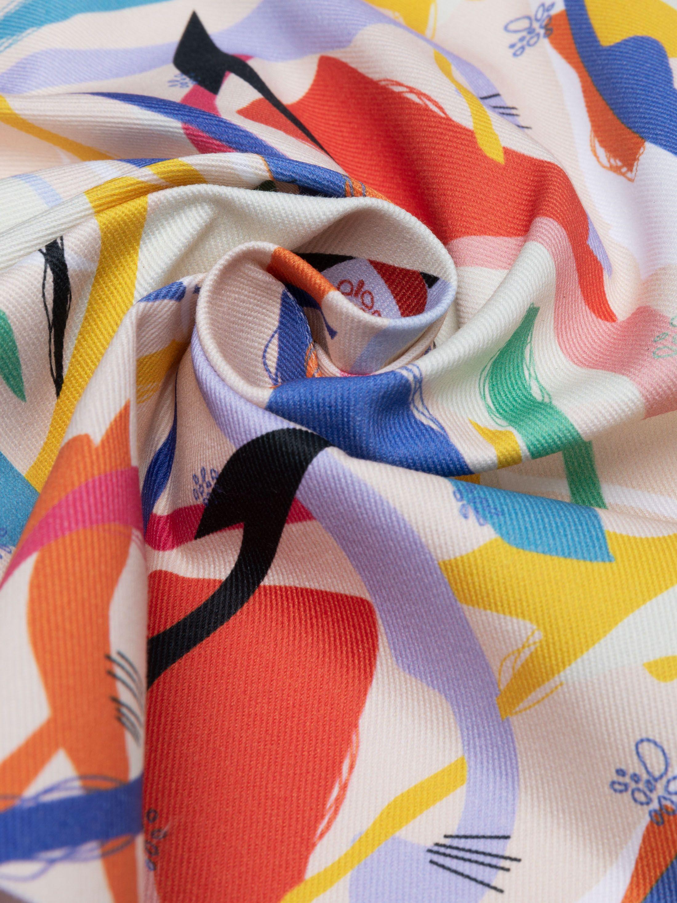 Create cotton drill fabrics pattern print