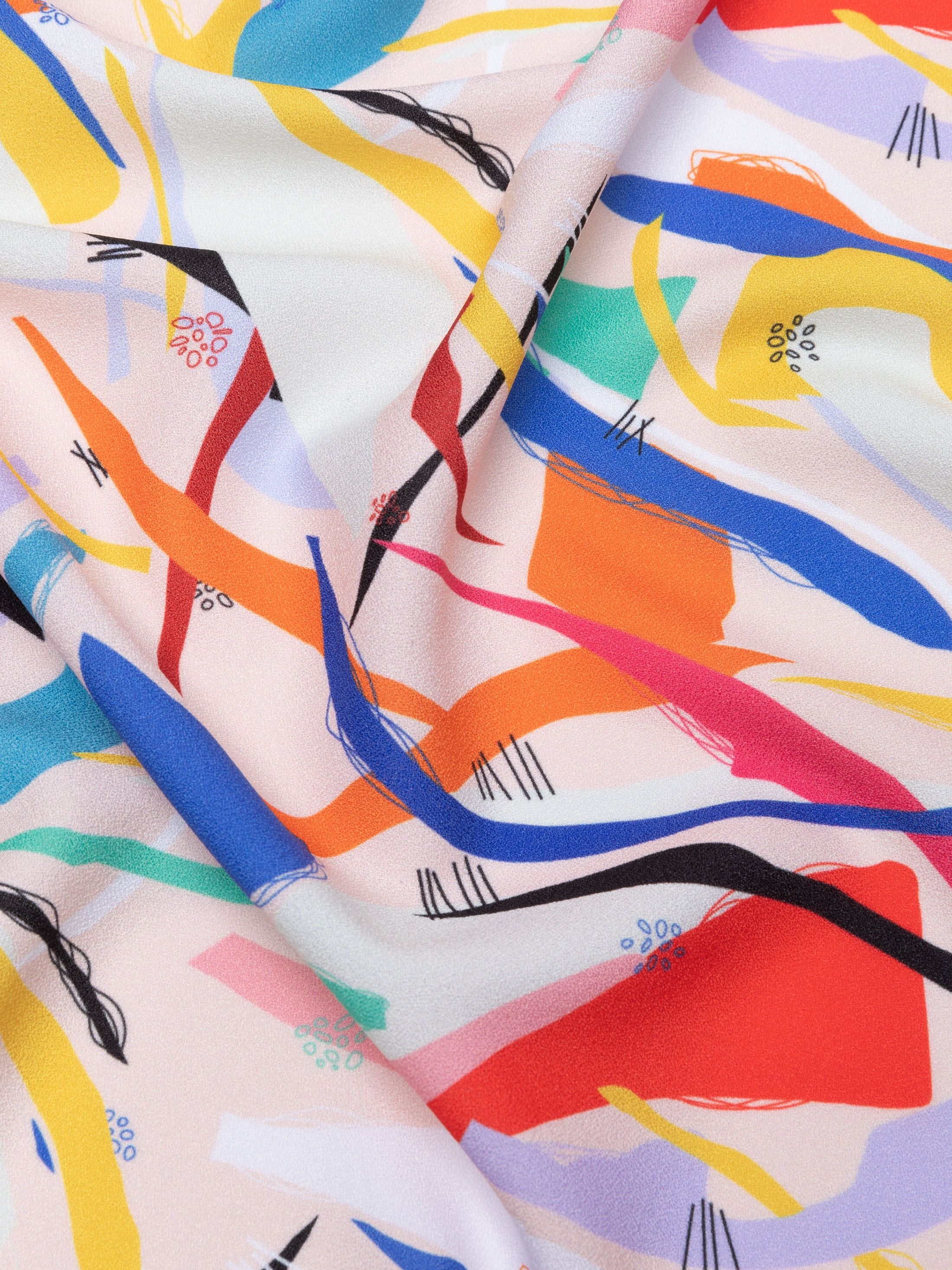 custom printed crepe fabric