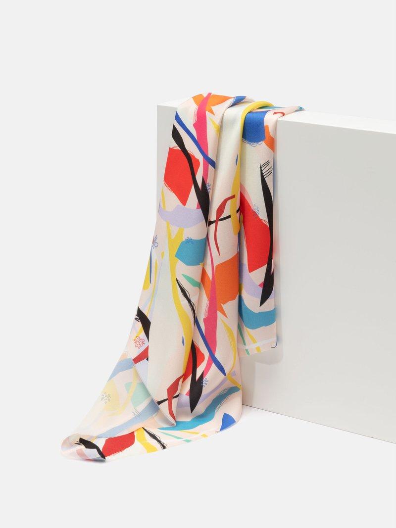 custom printed light crepe fabric UK