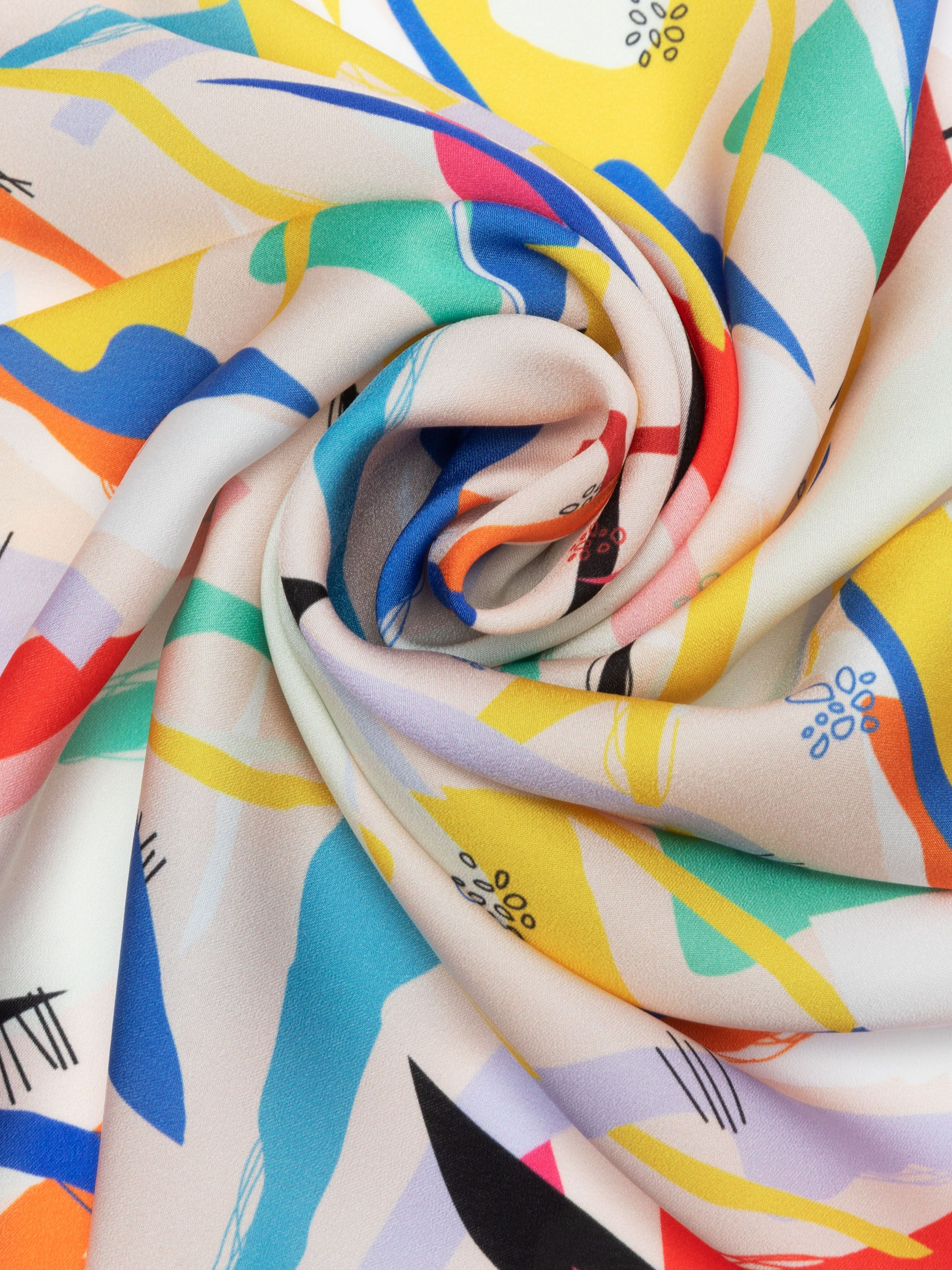custom printed light crepe fabric