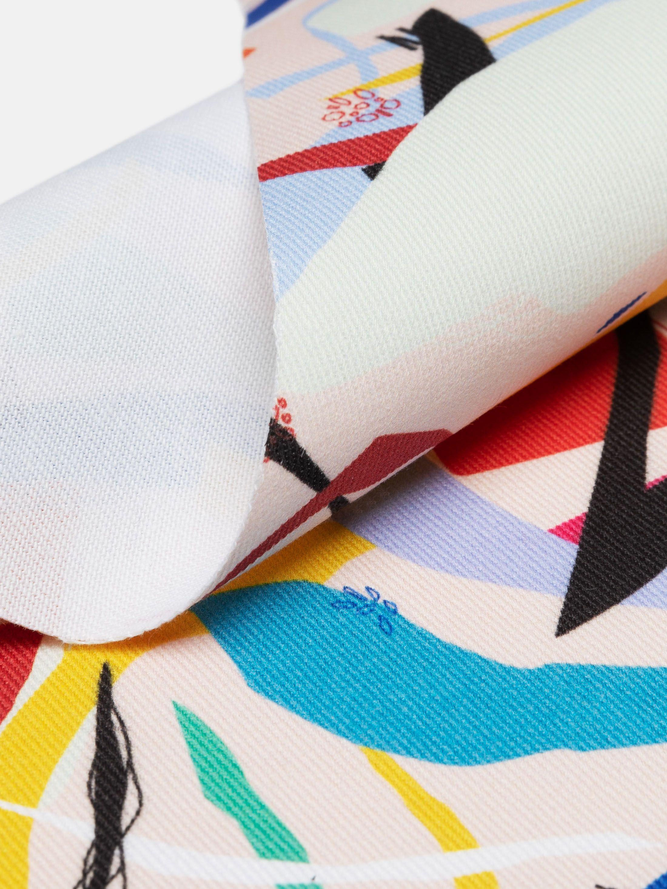 Order printed 100 cotton denim fabric online