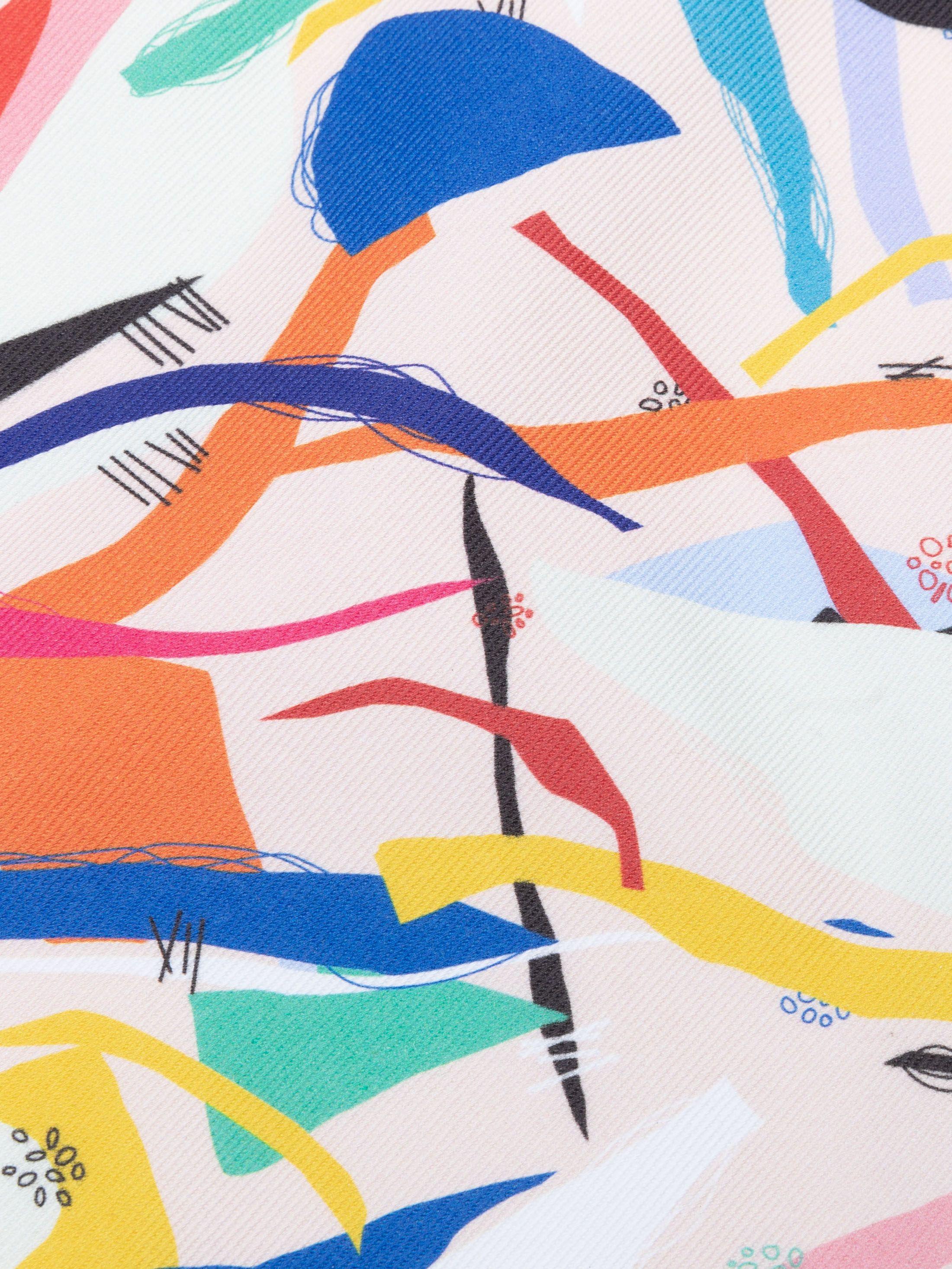 10 oz denim stof met jouw ontwerpen bedrukt gevouwen