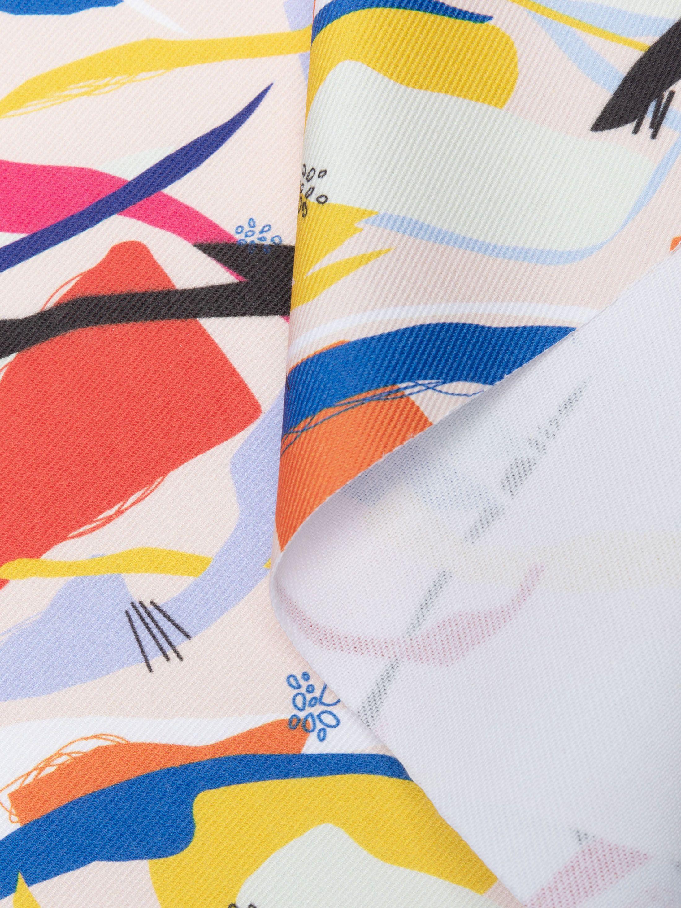 stampa su tessuto denim