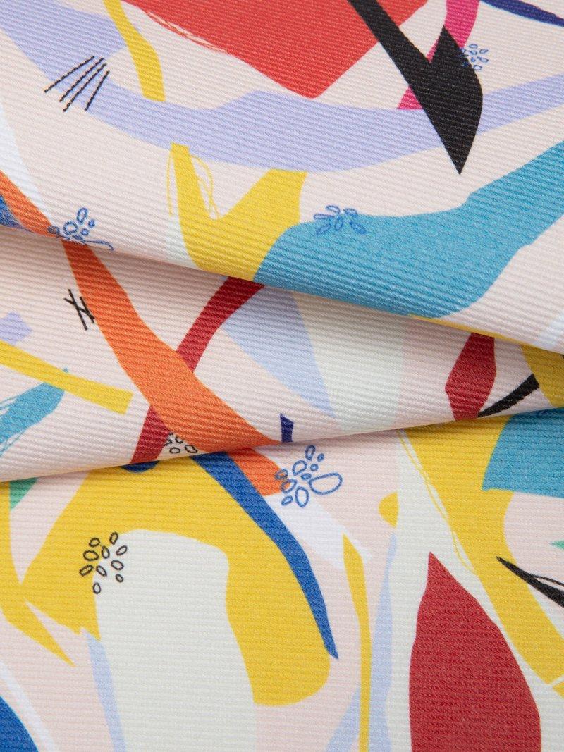 Print White bull denim fabric photo design